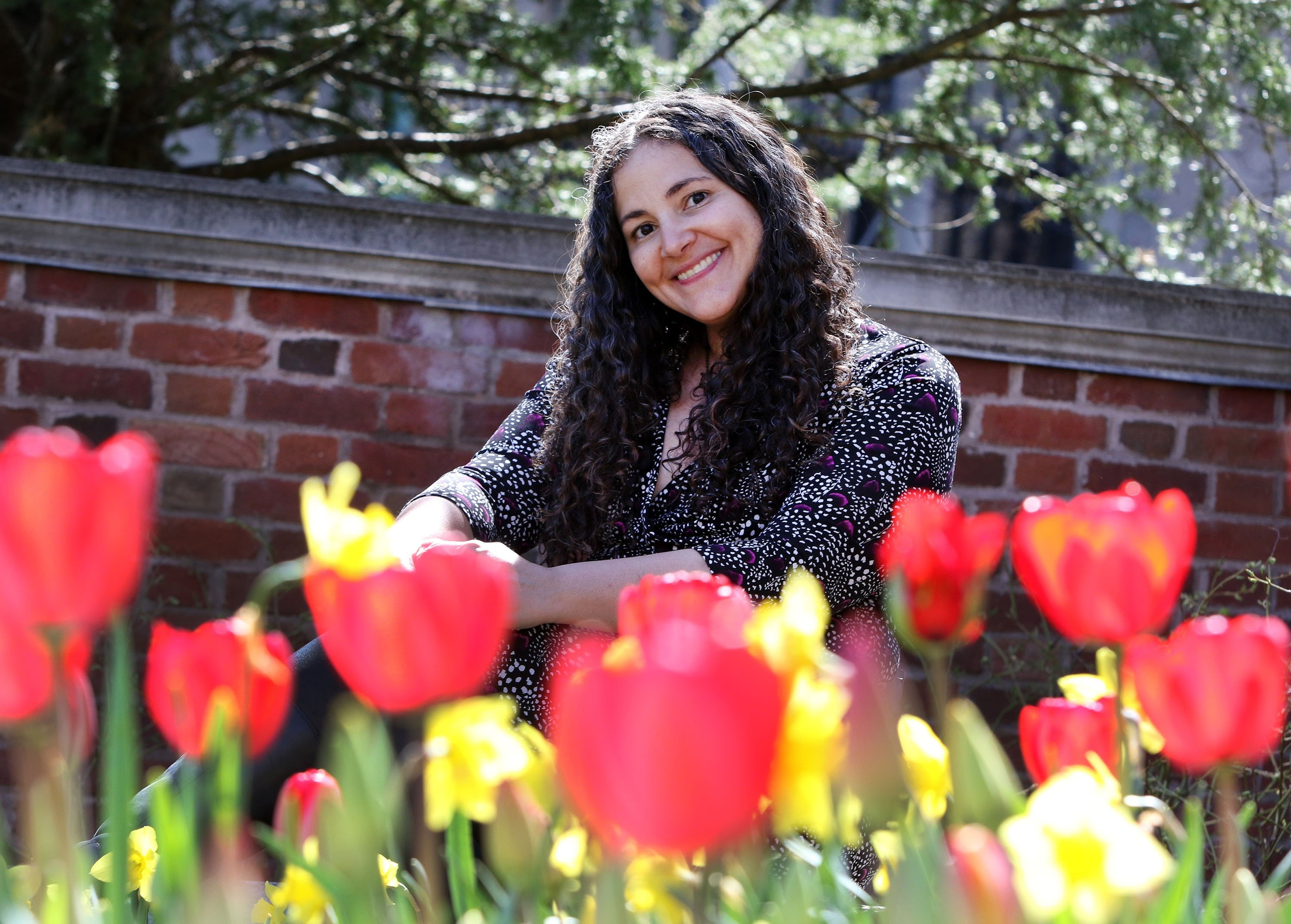 NEW HAVEN, CT - APRIL 26: Psychology Professor Dr. Laurie Santos, whose one-time-only class 'Psychology and the Good Life' is the most popular course ever offered at Yale University in New Haven, CT and was held on April 26, 2018. (Photo by Stan Godlewski for The Washington Post via Getty Images)