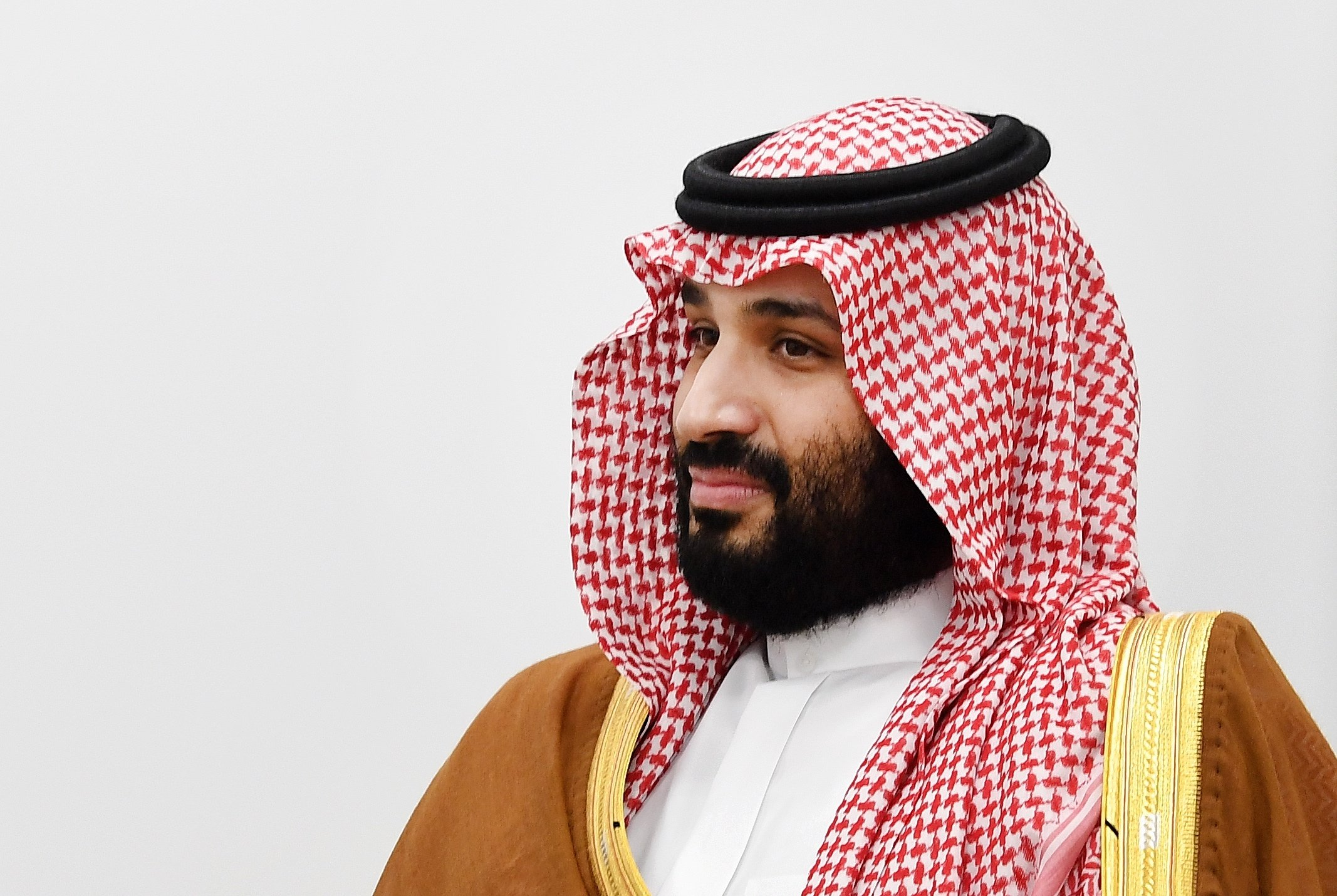 Crown Prince Mohammed bin Salman of Saudi at the second day of the G-20 summit in Osaka, Japan, June 29, 2019. (reissued Feb. 26, 2021). (EPA File Photo)