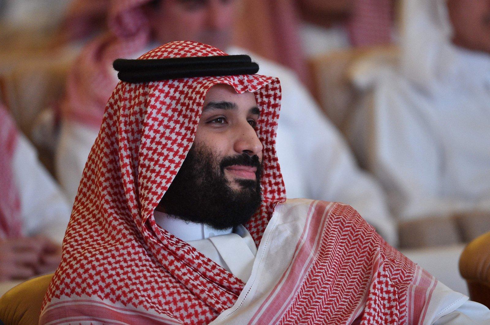 Saudi Arabia's Crown Prince Mohammed bin Salman at the Future Investment Initiative (FII) conference in Riyadh, Saudi Arabia, Oct. 23, 2018. (AFP)