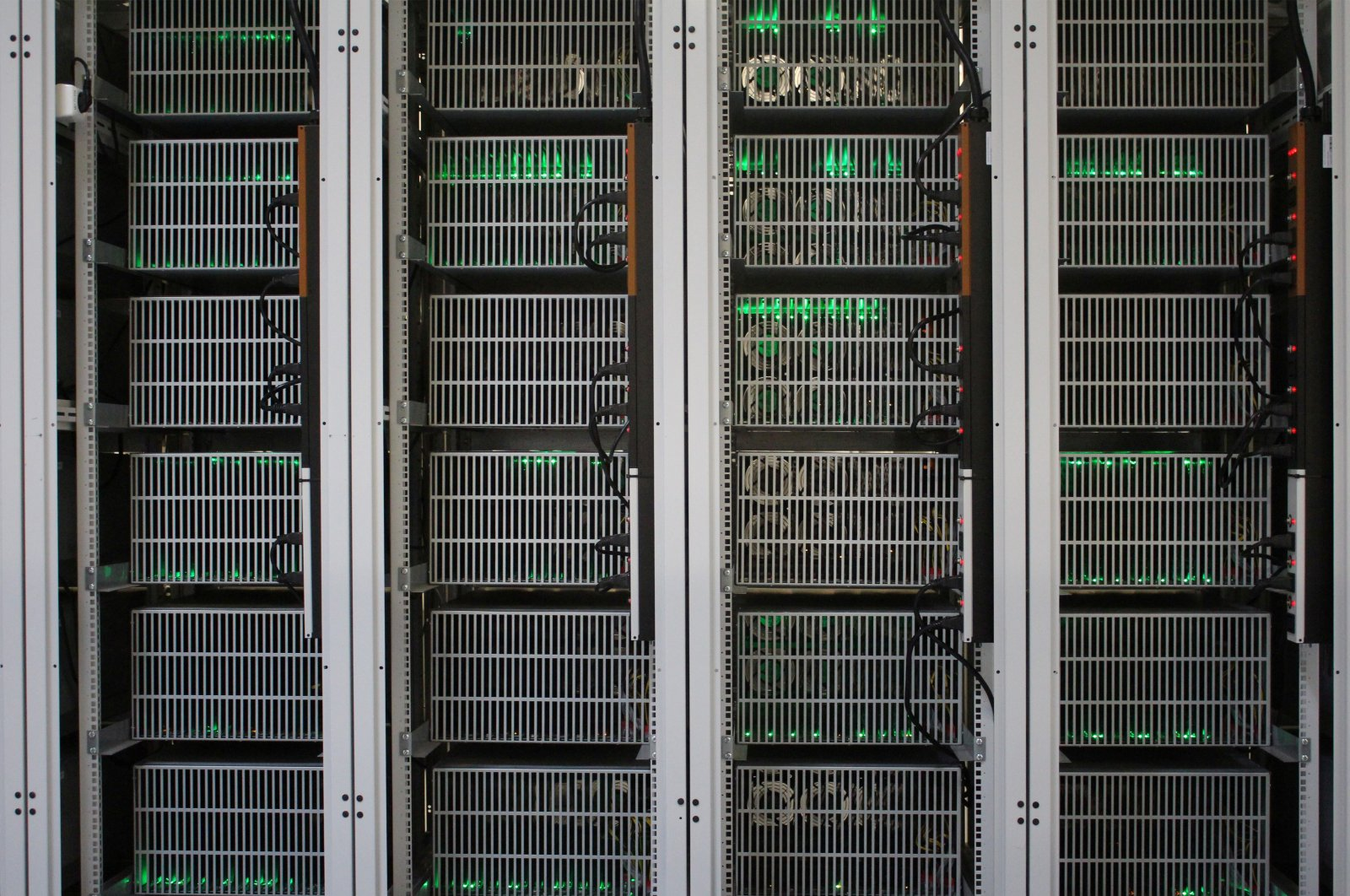 Bitcoin mining computers are pictured in Bitfury's mining farm near Keflavik, Iceland, June 7, 2016. (Reuters Photo)