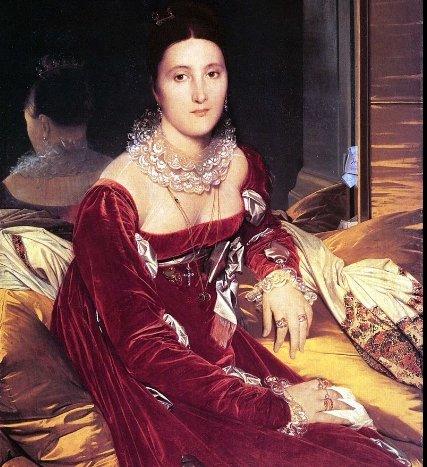 'Portrait of Madame de Senonnes' by Jean- Auguste, 106 by 84 centimeters.
