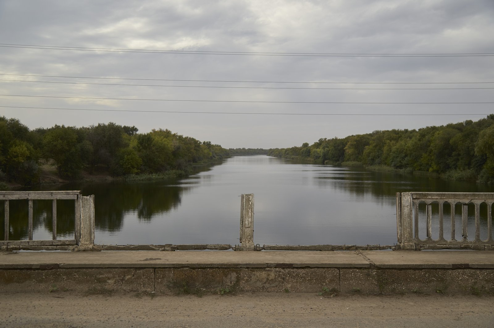 A bridge on the North Crimean Canal, in Kalanchak, Ukraine, Sept. 29, 2020. (Photo by Getty Images)