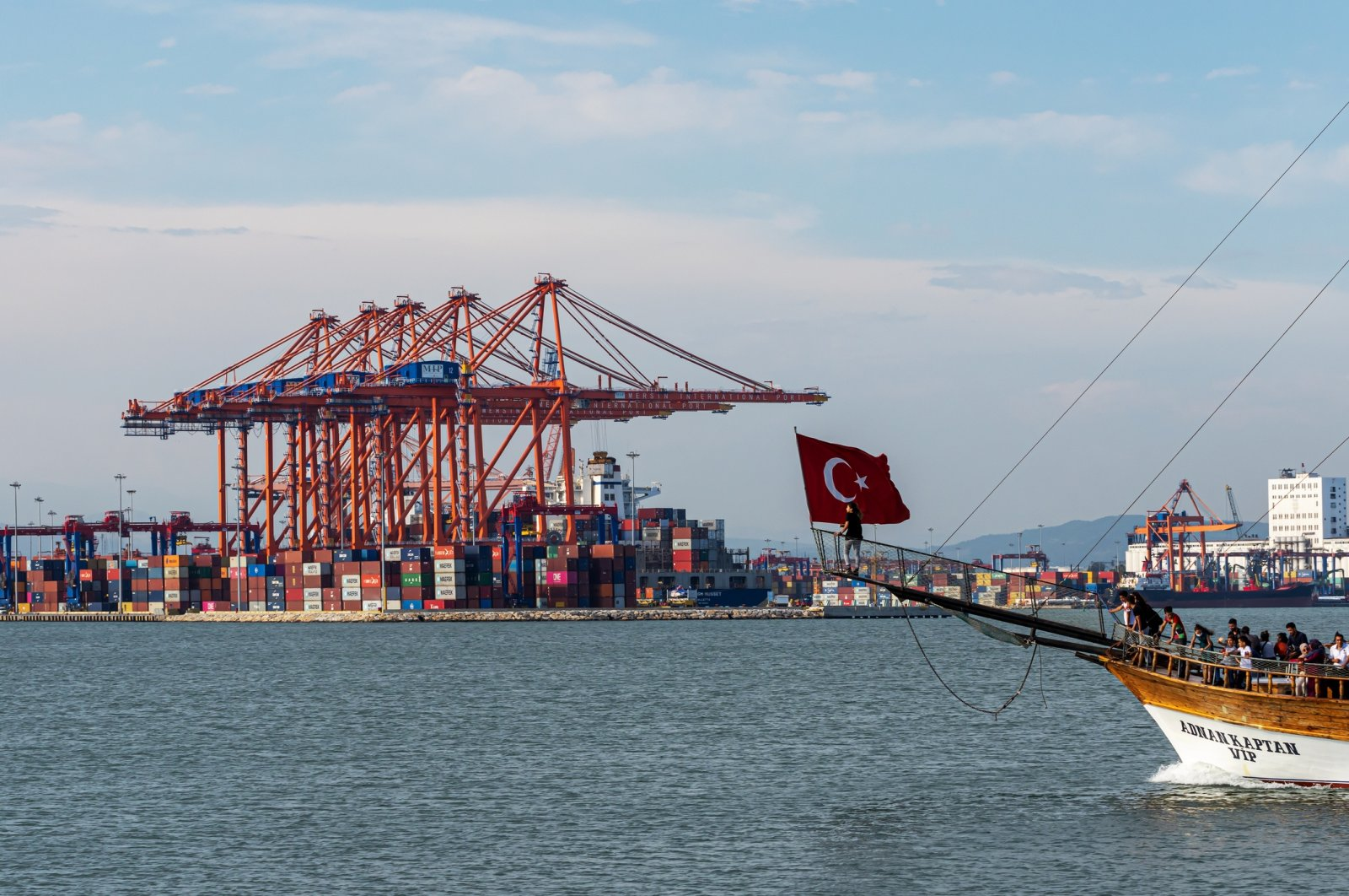Containers at the Mersin International Port (MIP) in southern Mersin province, Turkey, June 14, 2020. (Shutterstock Photo by Can Aran)
