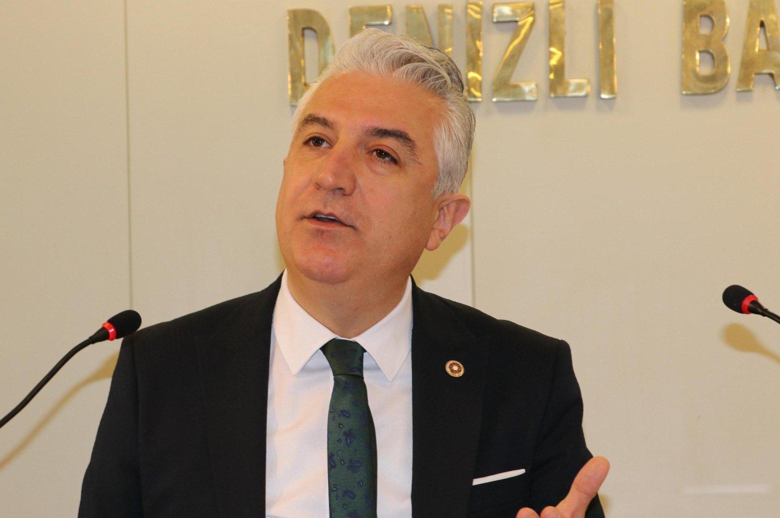 Teoman Sancar speaks at a press conference in Denizli province, western Turkey. (DHA File Photo)