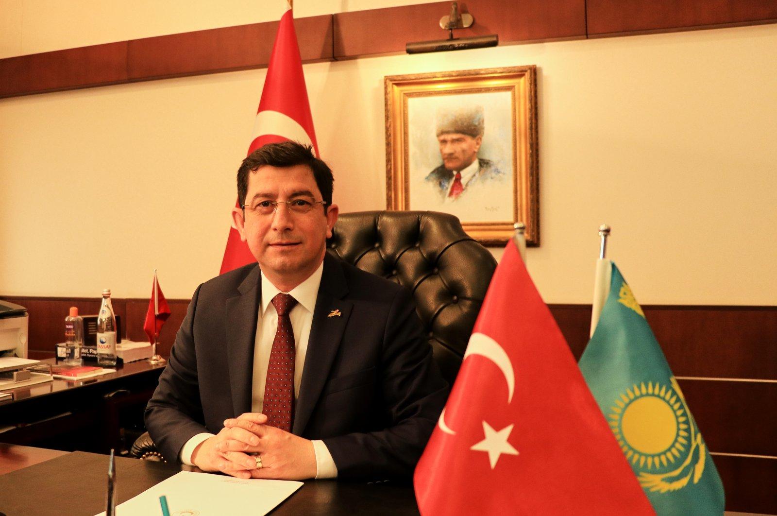Turkish Ambassador to Nur Sultan, Ufuk Ekici during an interview with the Anadolu Agency (AA), in Nur Sultan, Kazakhstan, March 2, 2021. (AA Photo)