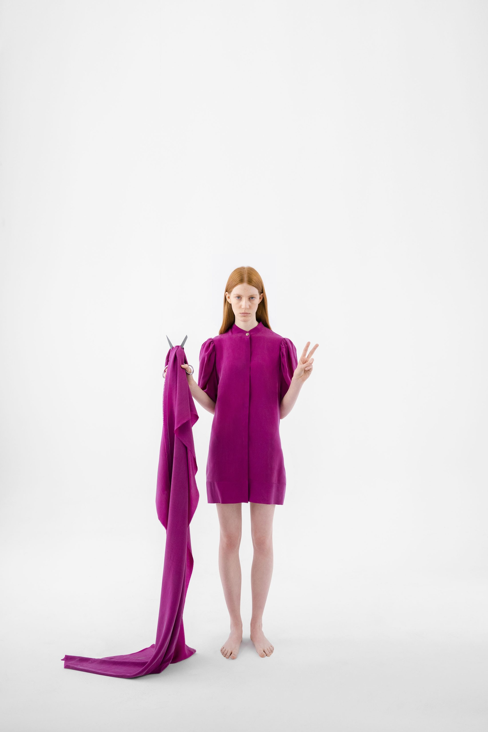 A look from Giyi's first sustainable collection. (Photo courtesy of Göknil Bigan)