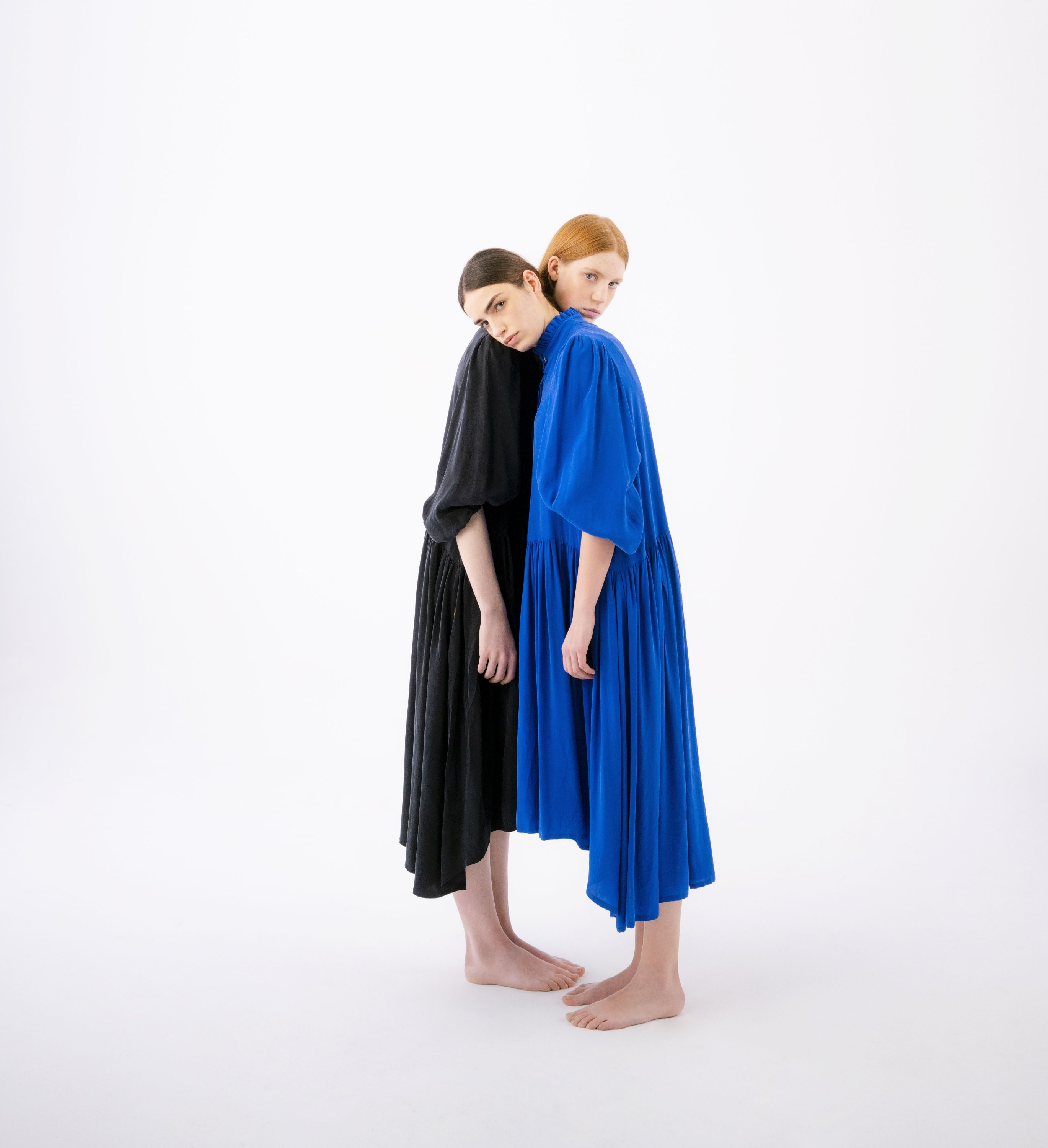Two looks from Giyi's first sustainable collection. (Photo courtesy of Göknil Bigan)