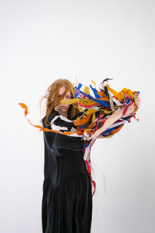 Giyi uses leftover fabrics to create accessories. (Photo courtesy of Göknil Bigan)