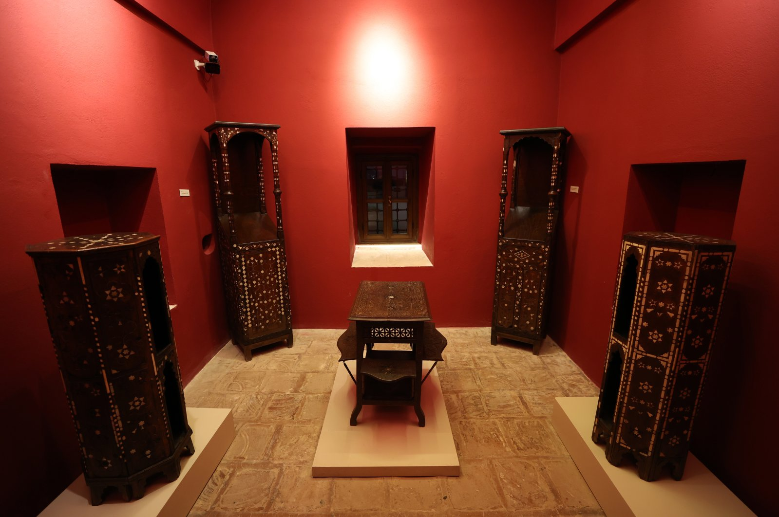 Wooden works on display at the Museum of Turkish Islamic Arts, Bursa, northwestern Turkey, Feb. 26, 2021. (AA PHOTO)