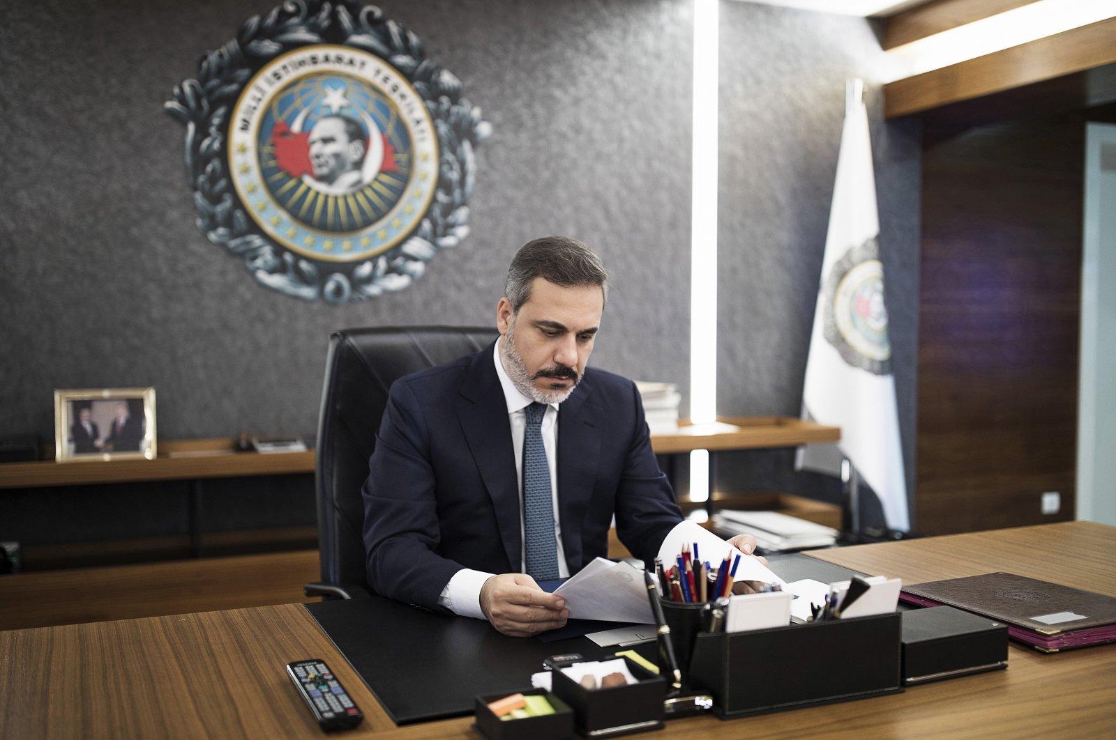 National Intelligence Organization (MIT) head Hakan Fidan is seen in this file photo taken on Jan. 28, 2020 (AA Photo)