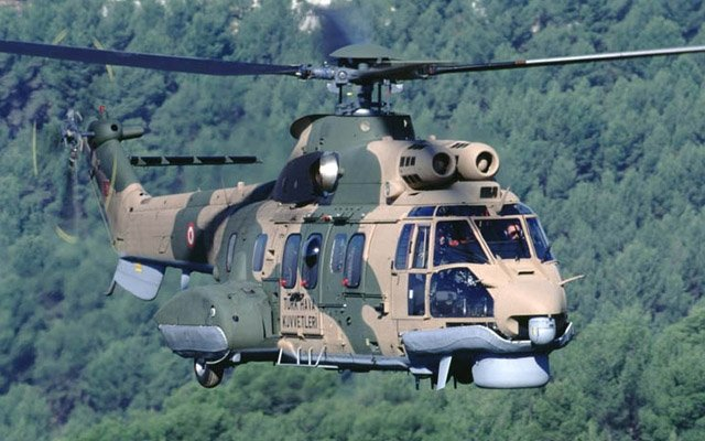 A general view of the AS532 Cougar helicopter