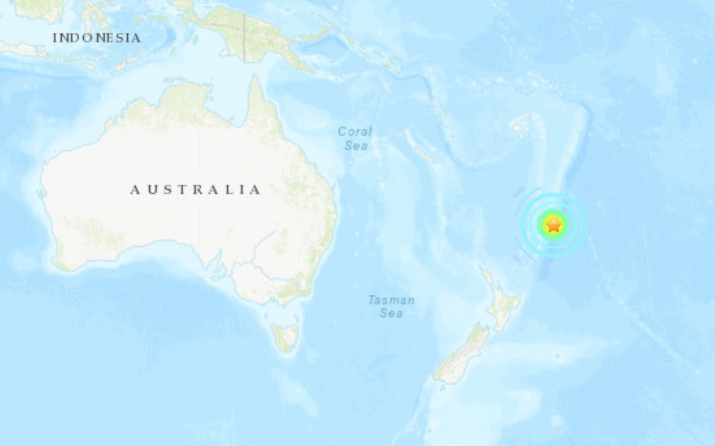 This screengrab from United States Geographical Survey (USGS) website shows the epicenter of the major earthquake