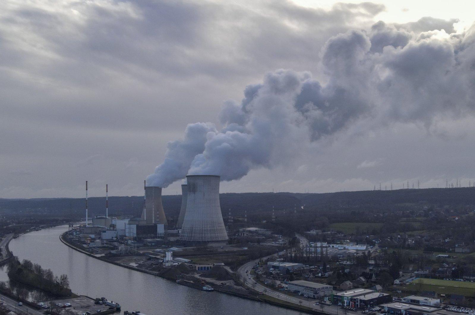 Engie nuclear power plant in Tihange, Belgium, Feb. 26, 2021. (EPA Photo)