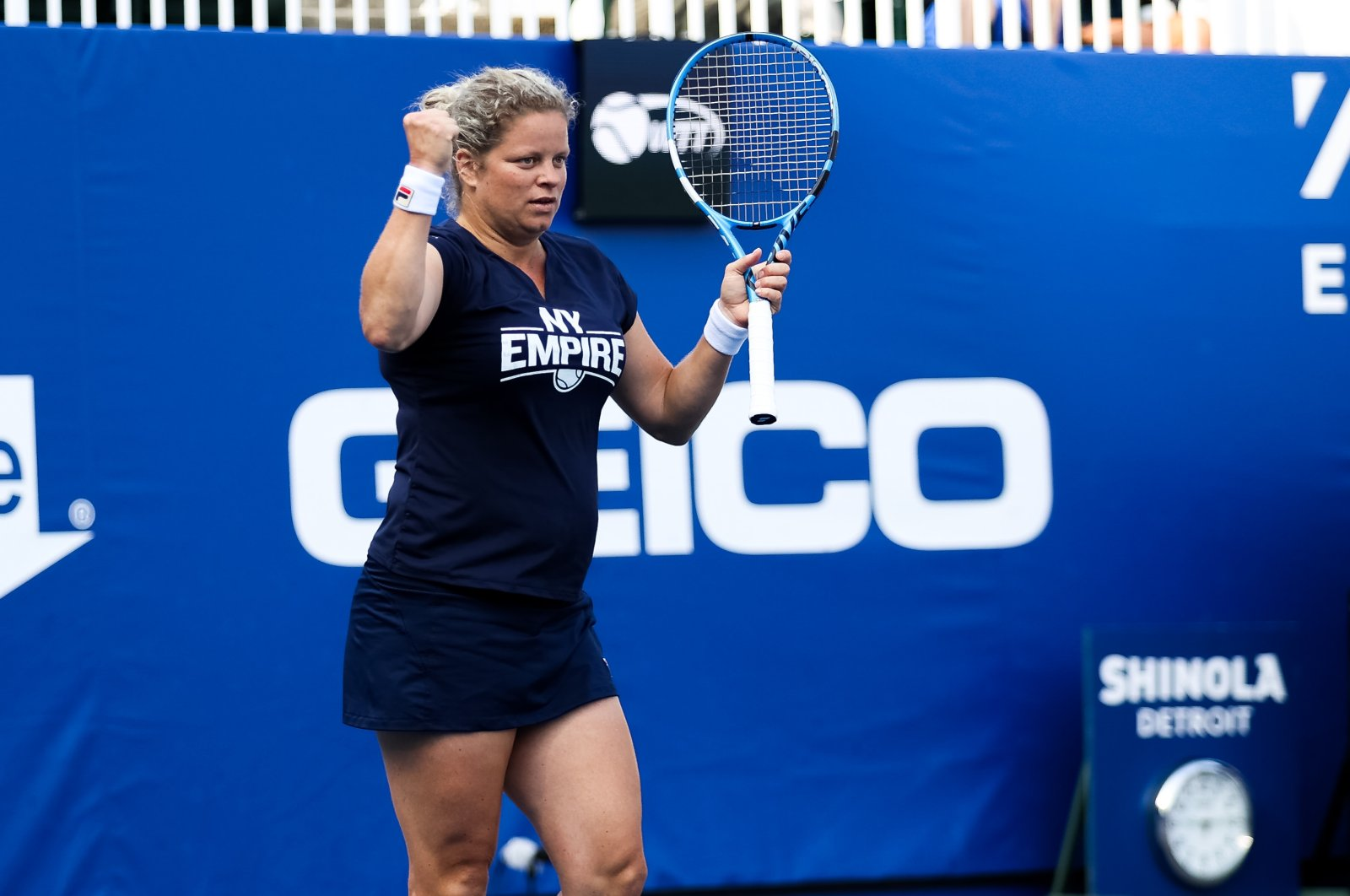 Kim Clijsters during a New York Empire match against San Diego Aviators, West Virginia, U.S., July 22, 2020. (Reuters Photo)