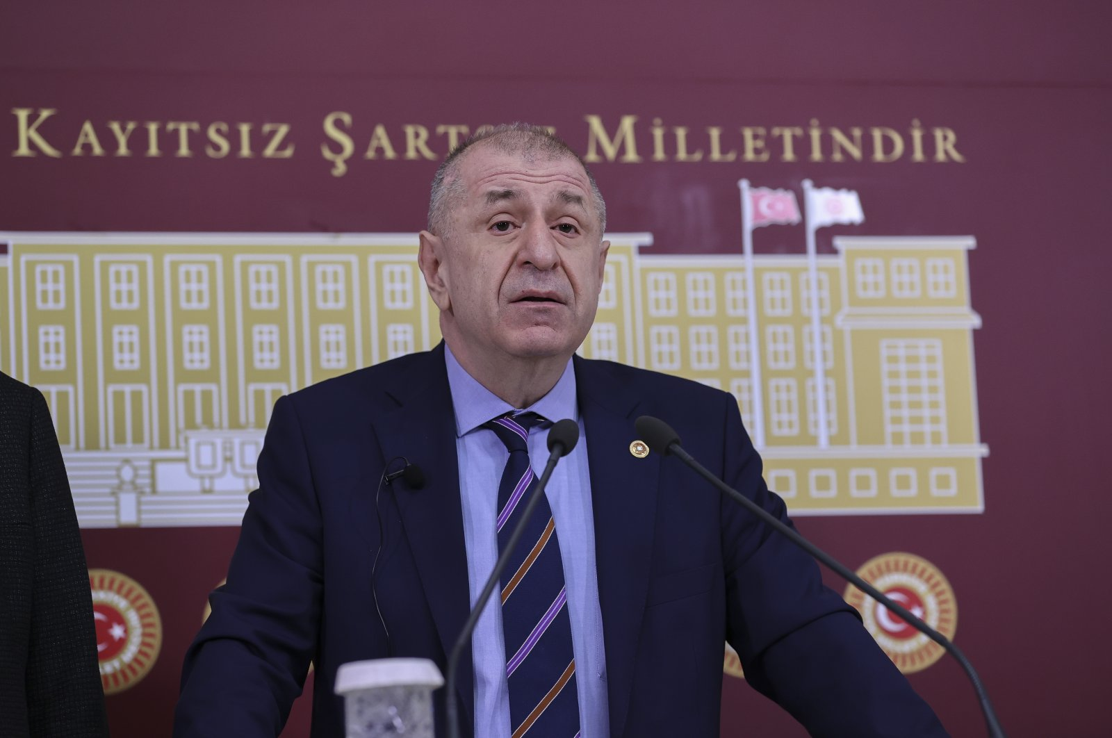 Ümit Özdağ announces his resignation from the opposition Good Party (IP) in the capital Ankara, Turkey, March 4, 2021. (AA Photo)