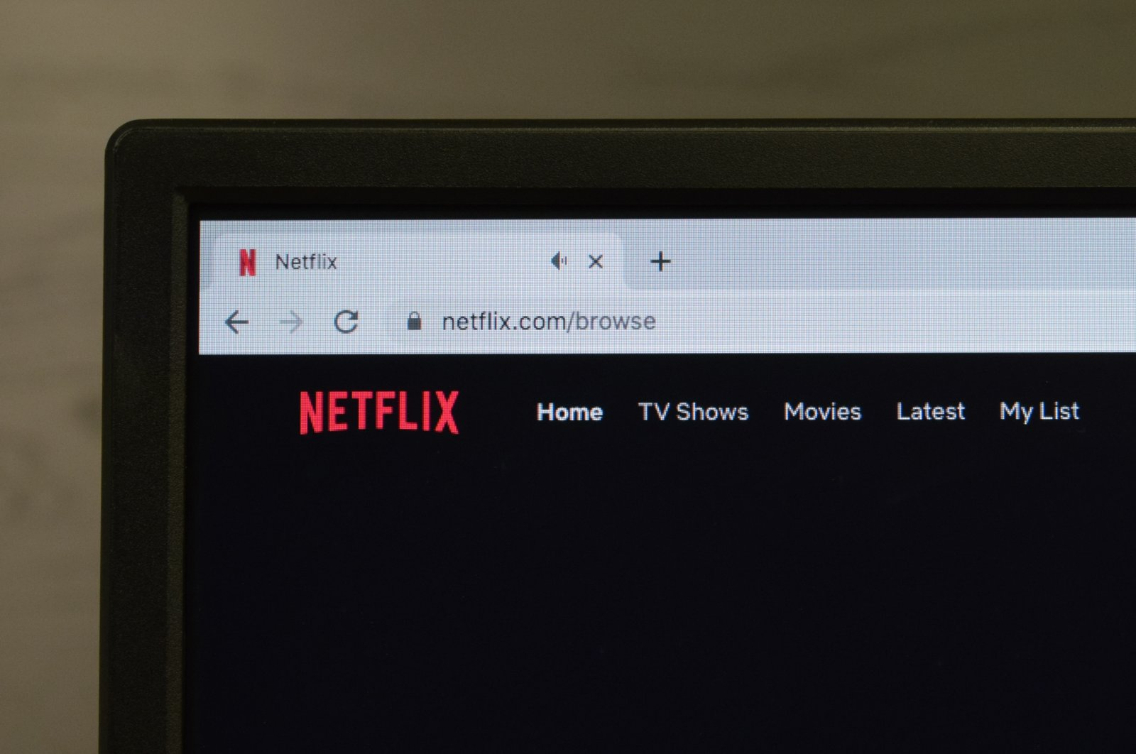 A close up of the Netflix logo on a laptop screen in Istanbul, Turkey, May 26, 2020. (Shutterstock Photo)