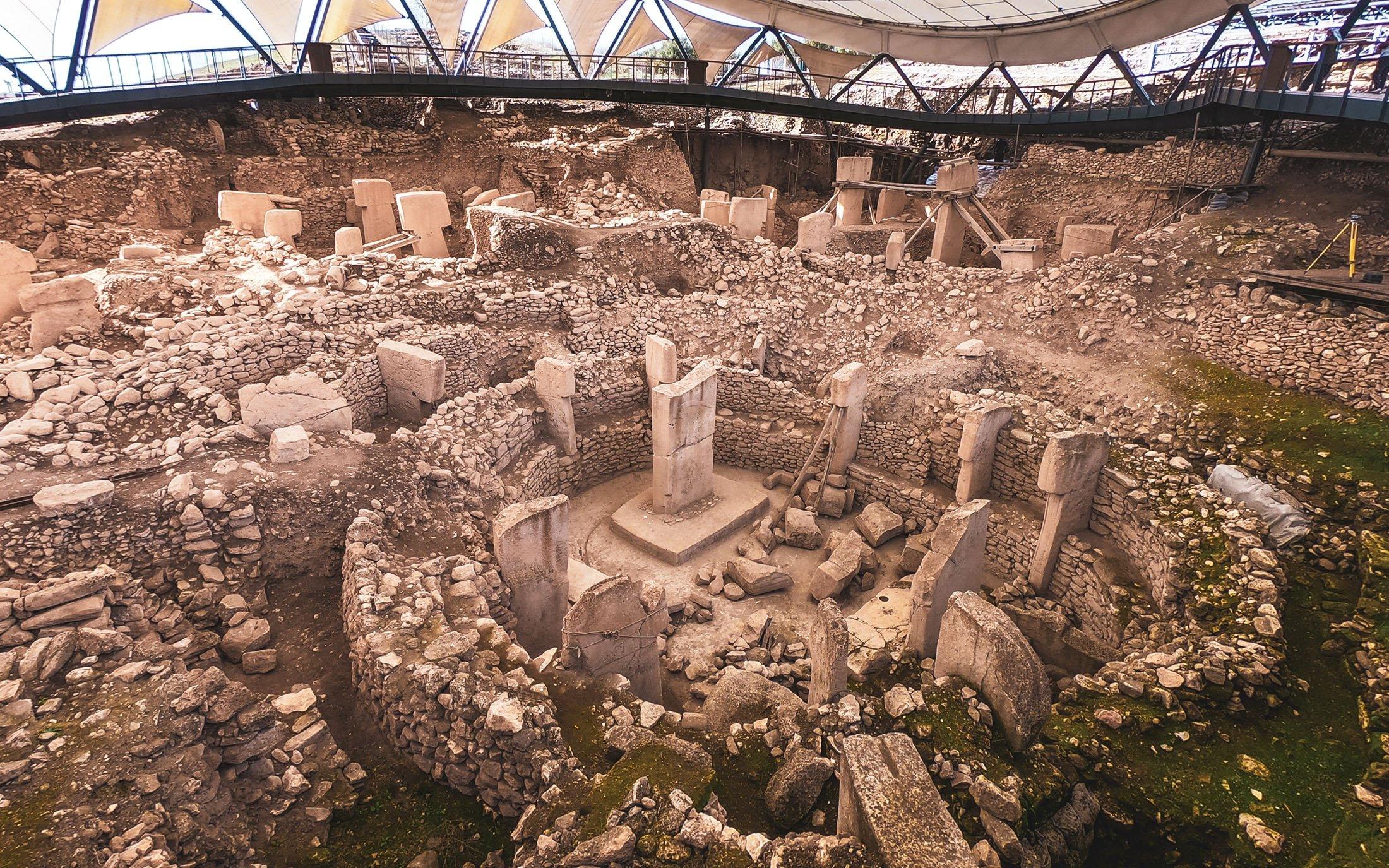 The Göbeklitepe Temple. (Photo by Argun Konuk)