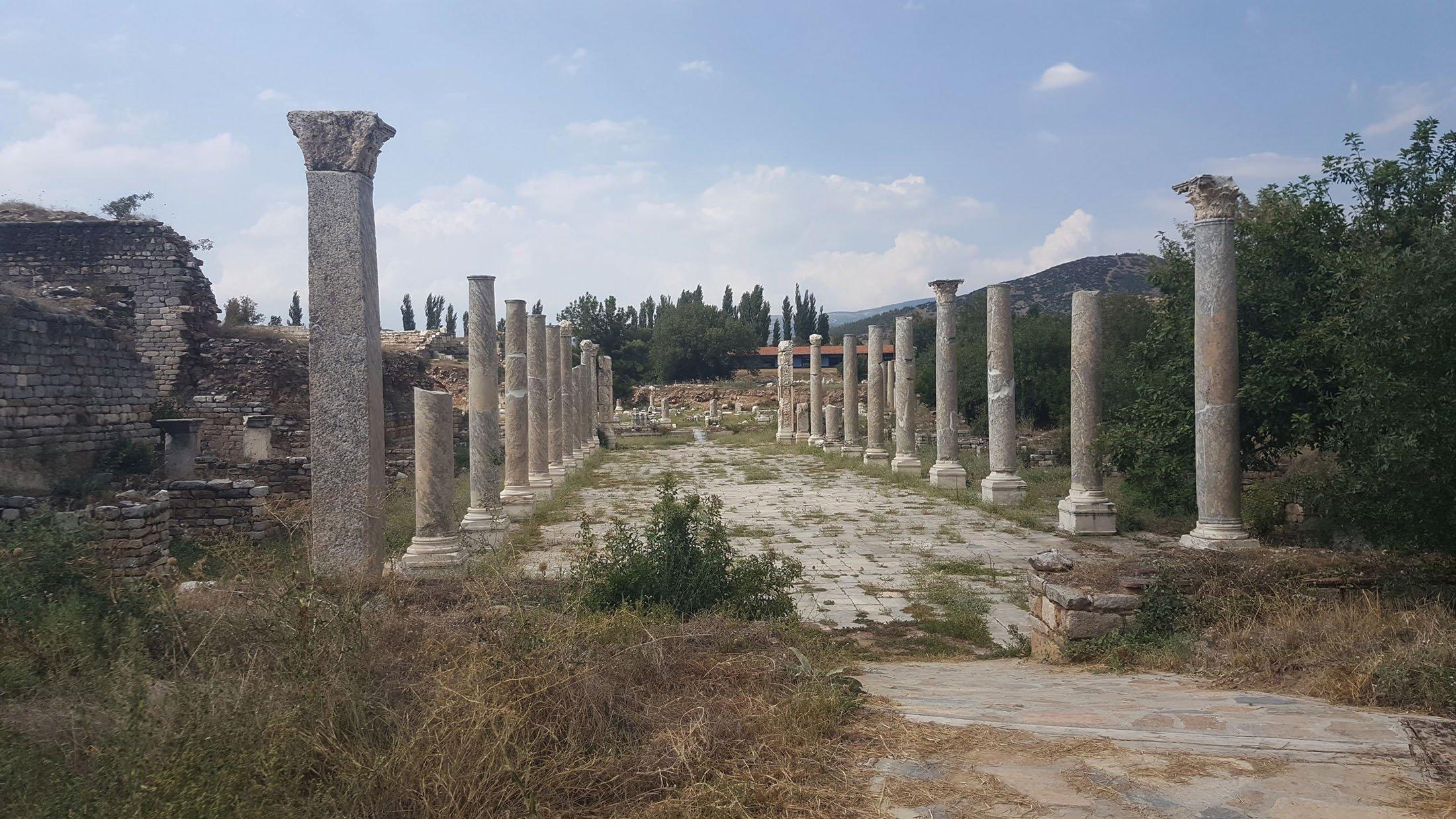 Columns at Aphrodisias. (Photo by Argun Konuk)