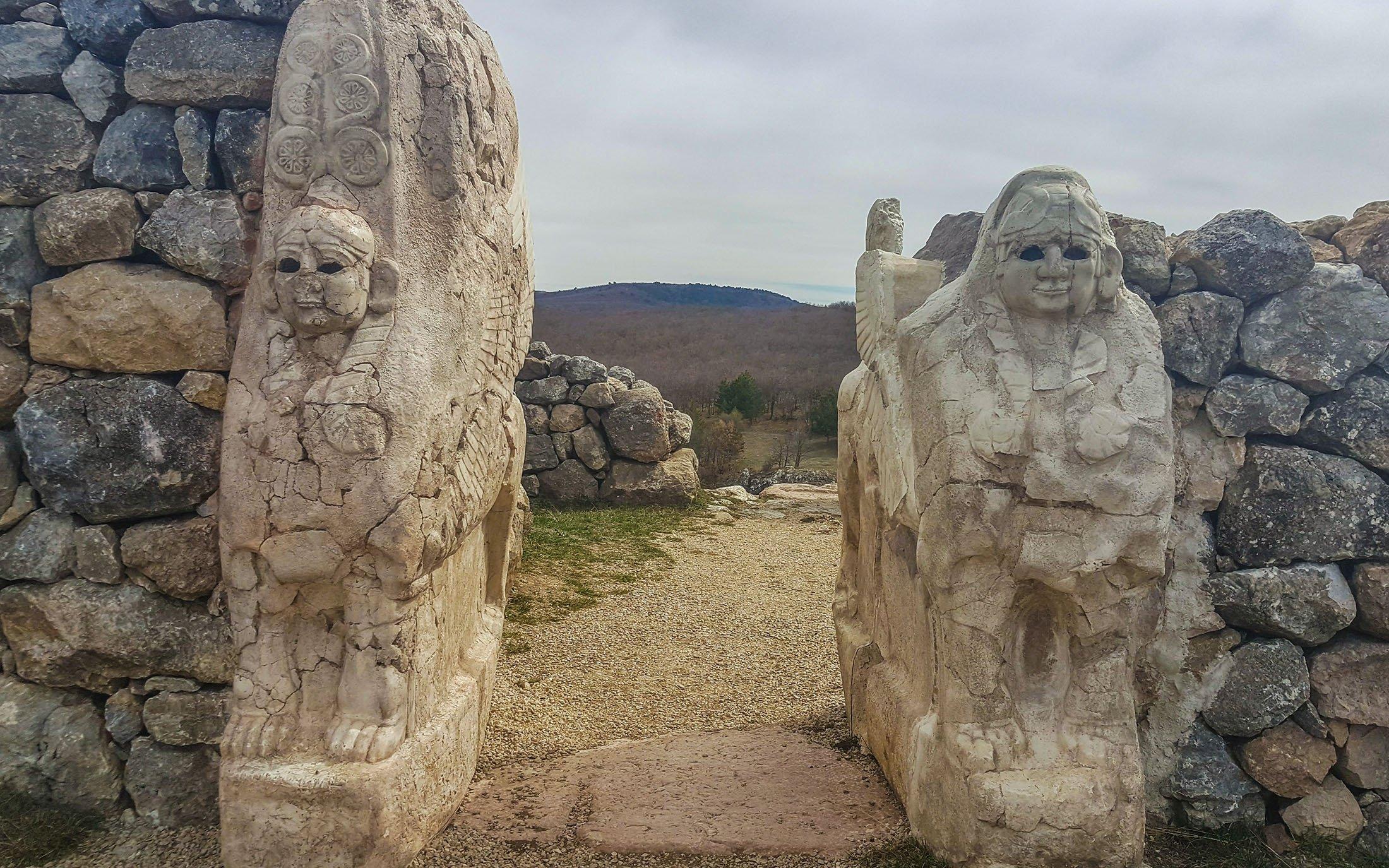 The Sphinx Gate at Hattuşa. (Photo by Argun Konuk)