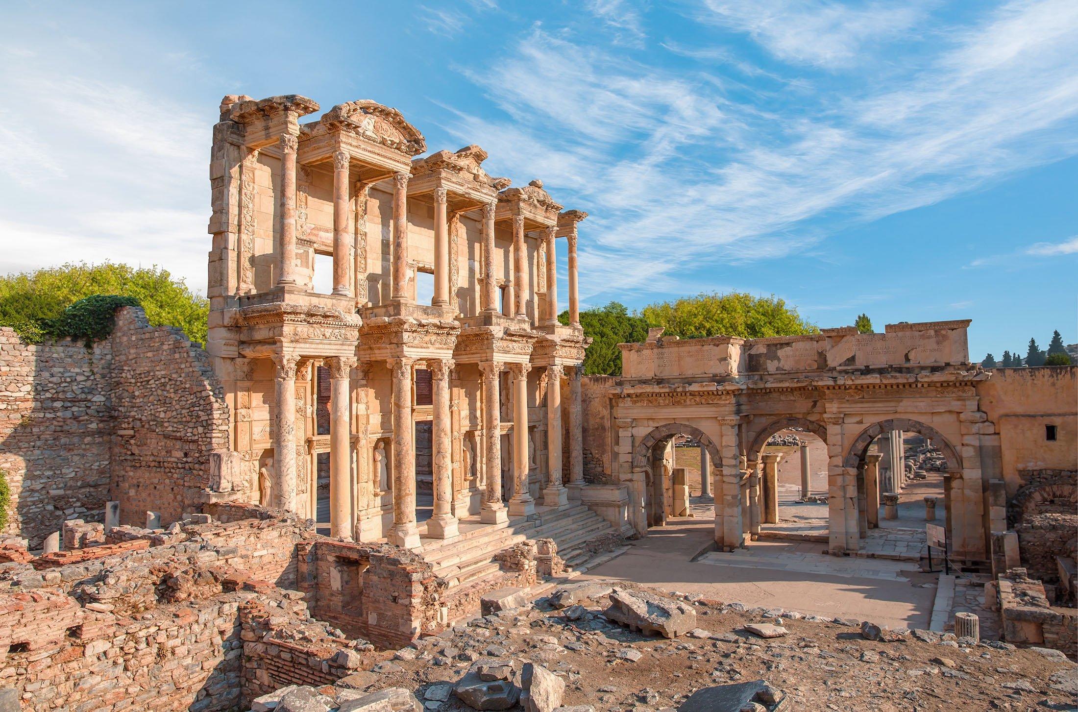 The Celsus Library in Ephesus, Izmir.  (Shutterstock Photo)