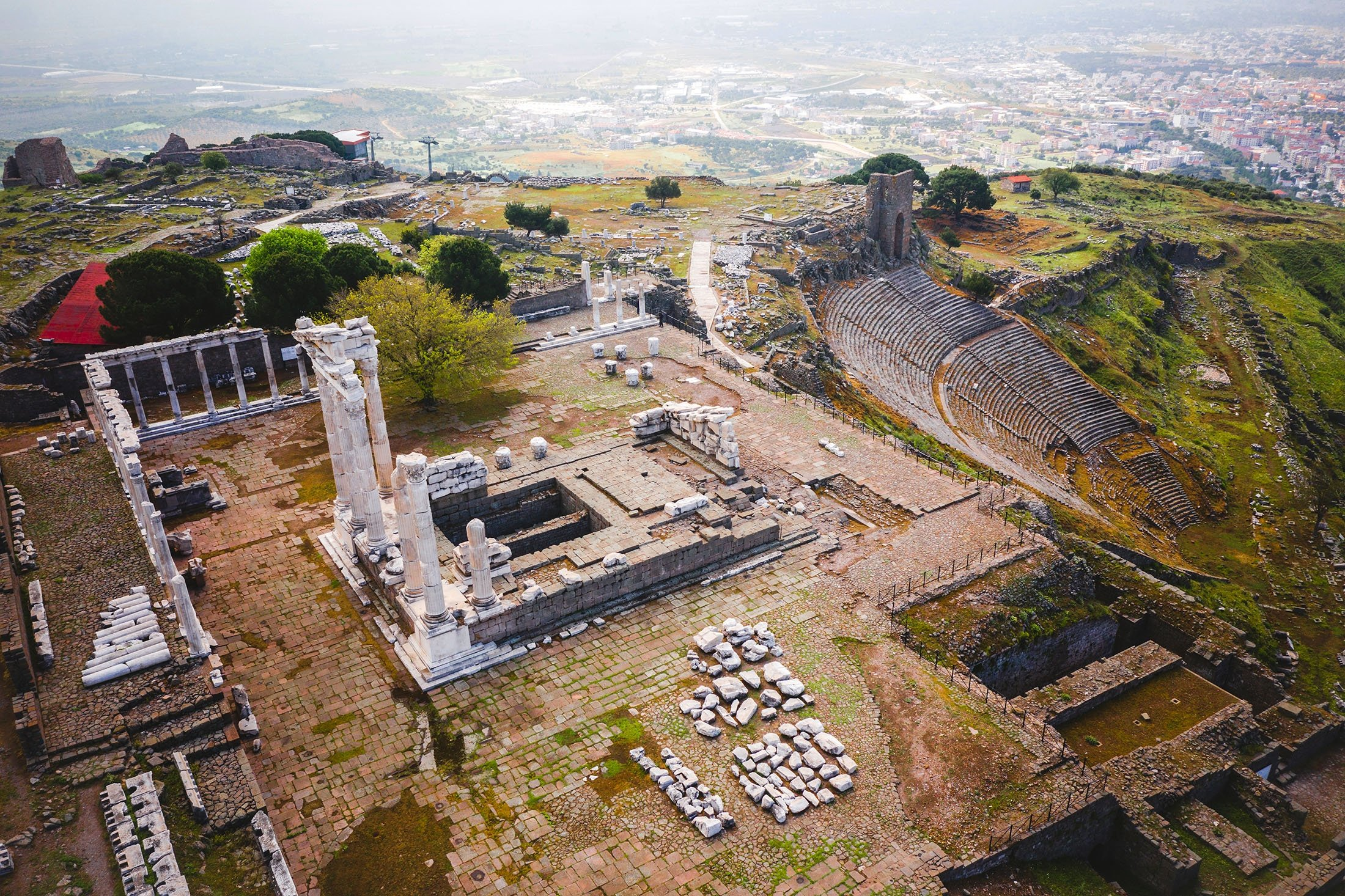 The Acropolis houses some of the most important remains of Pergamon. (Shutterstock Photo)