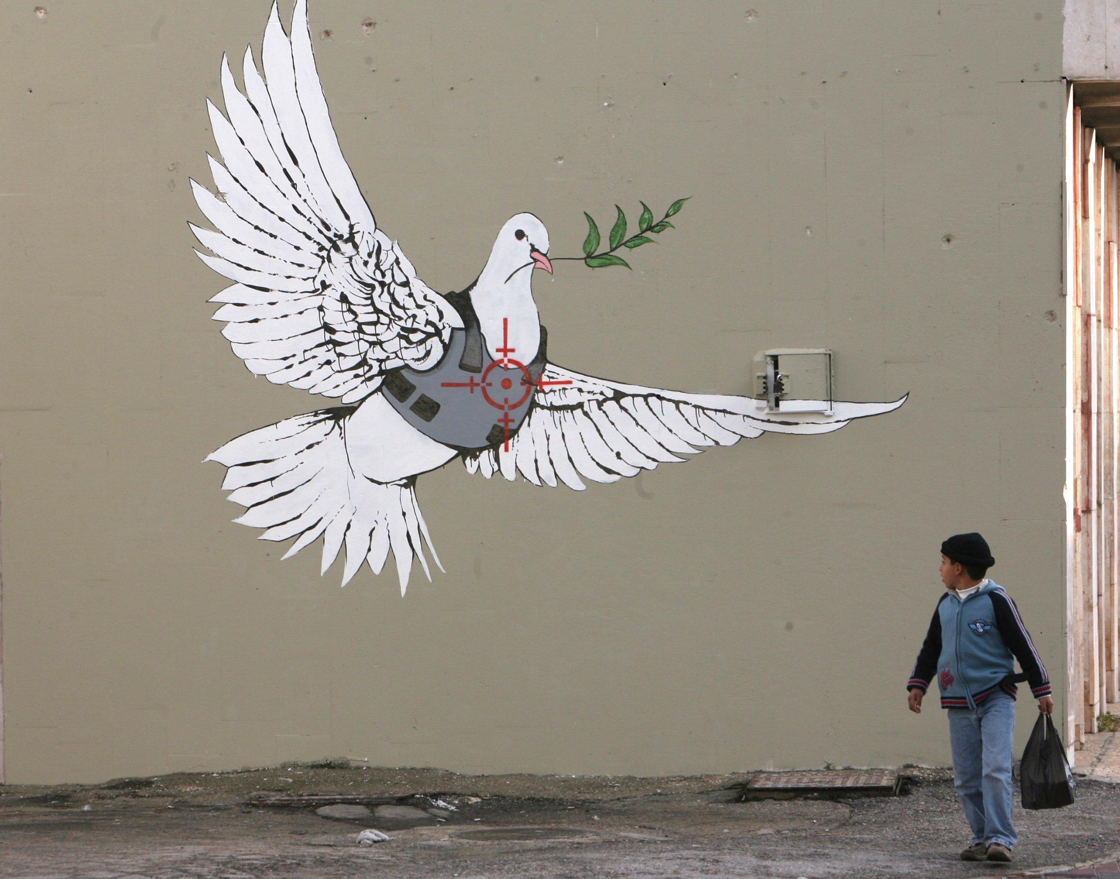 Political street art: Best of Banksy | Daily Sabah