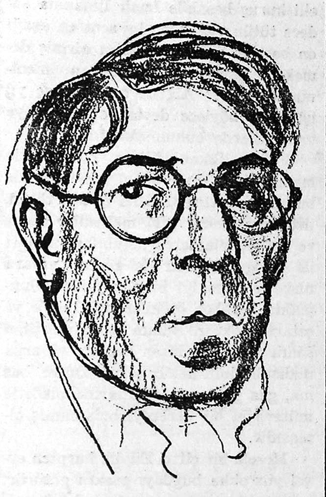 A caricature drawing of Osman Cemal Kaygılı. (Archive Photo)