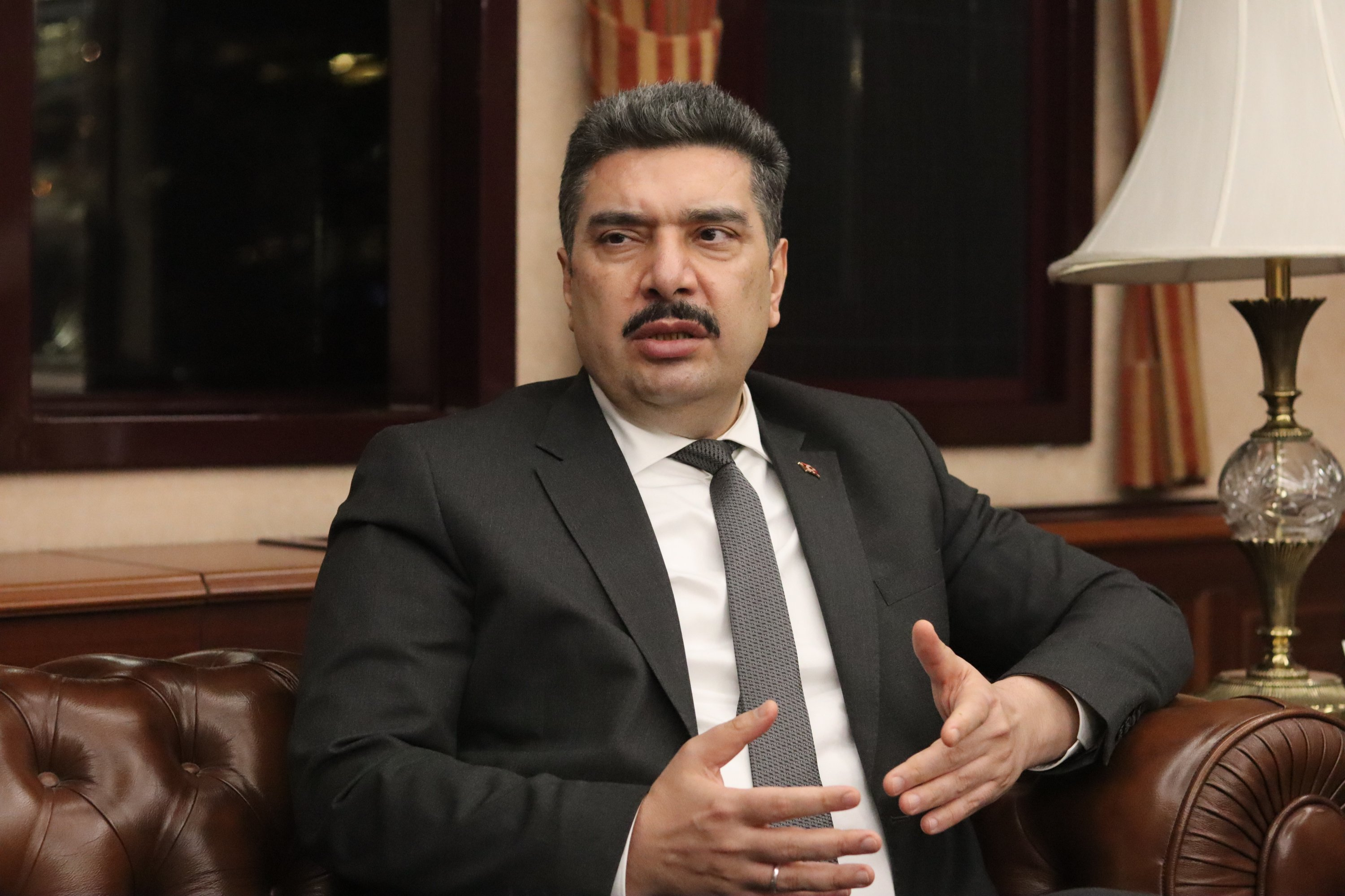 Havelsan General Manager Mehmet Akif Nacar speaks during an interview with Daily Sabah, March 3, 2021. (Photo by Daily Sabah)