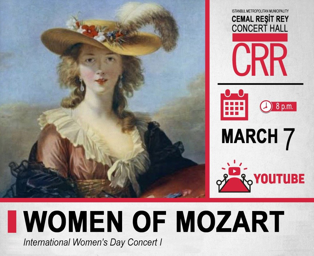 A poster of the Women of Mozart concert.