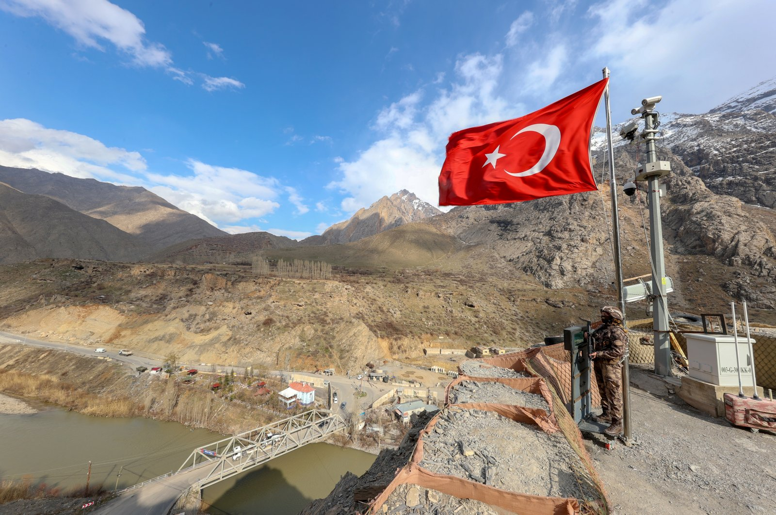 Turkish security forces protect borders in southeastern Hakkari province, March 7, 2021. (AA Photo)