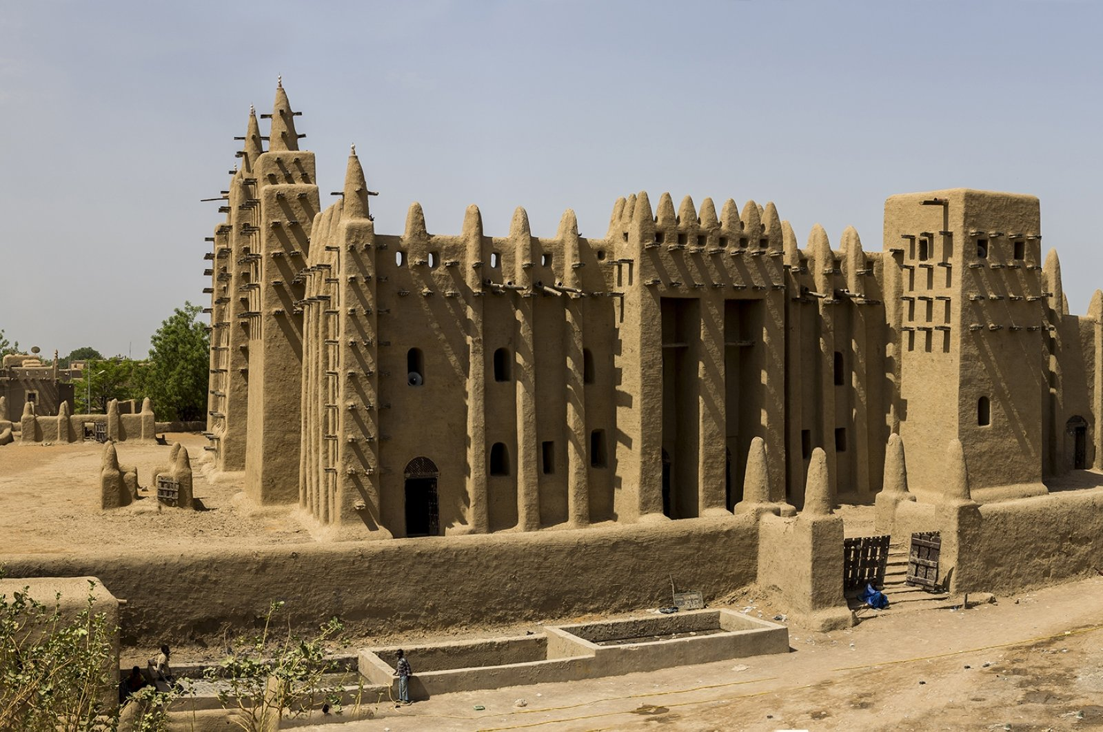 A photo of the Great Mosque of Djenne in the city of Djenne, Mali by Orhan Durgut. (AA PHOTO)