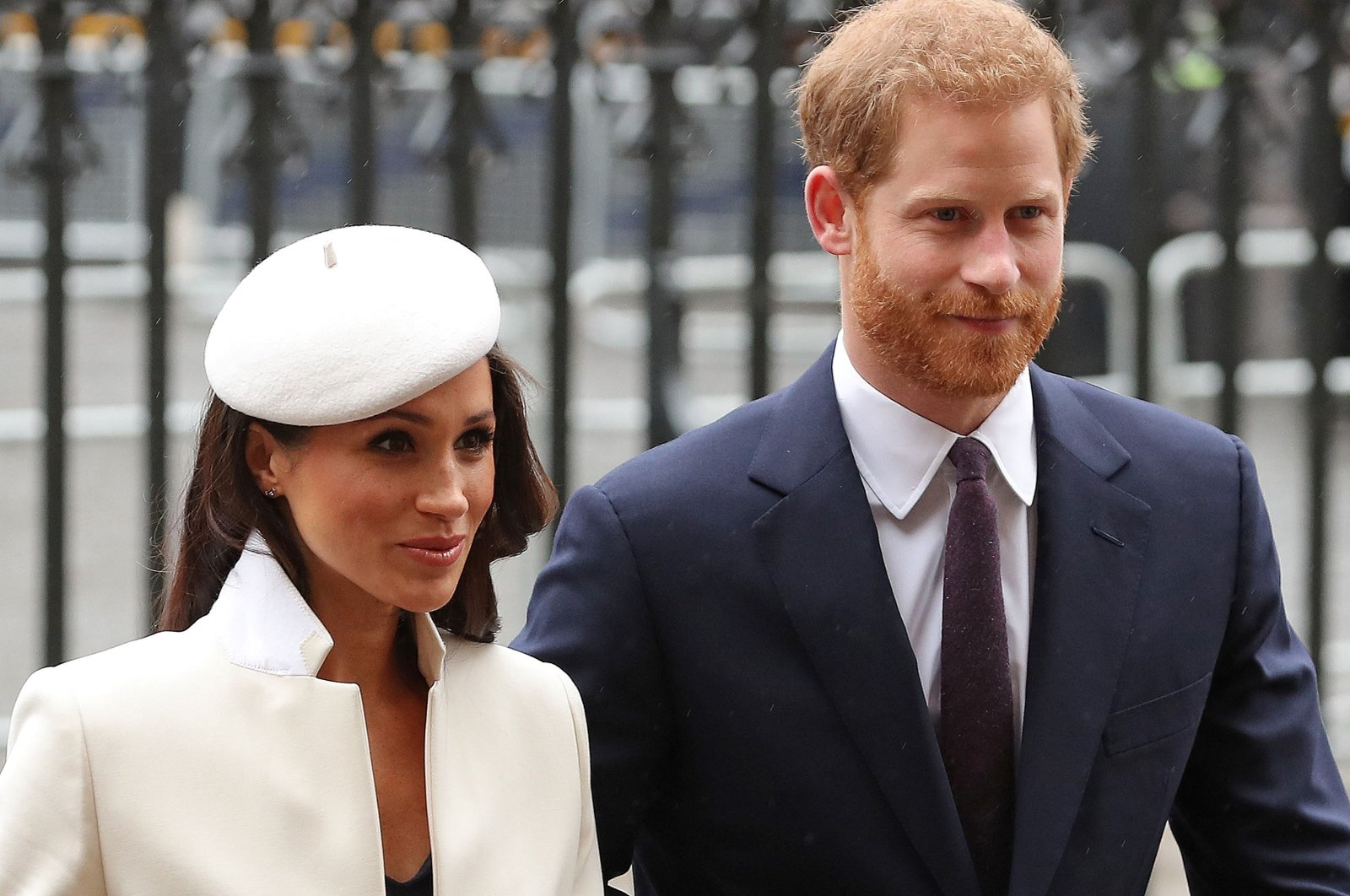In this file photo, Britain's Prince Harry (R) and Meghan Markle attend a Commonwealth Day Service at Westminster Abbey in central London, on March 12, 2018. (AFP Photo)