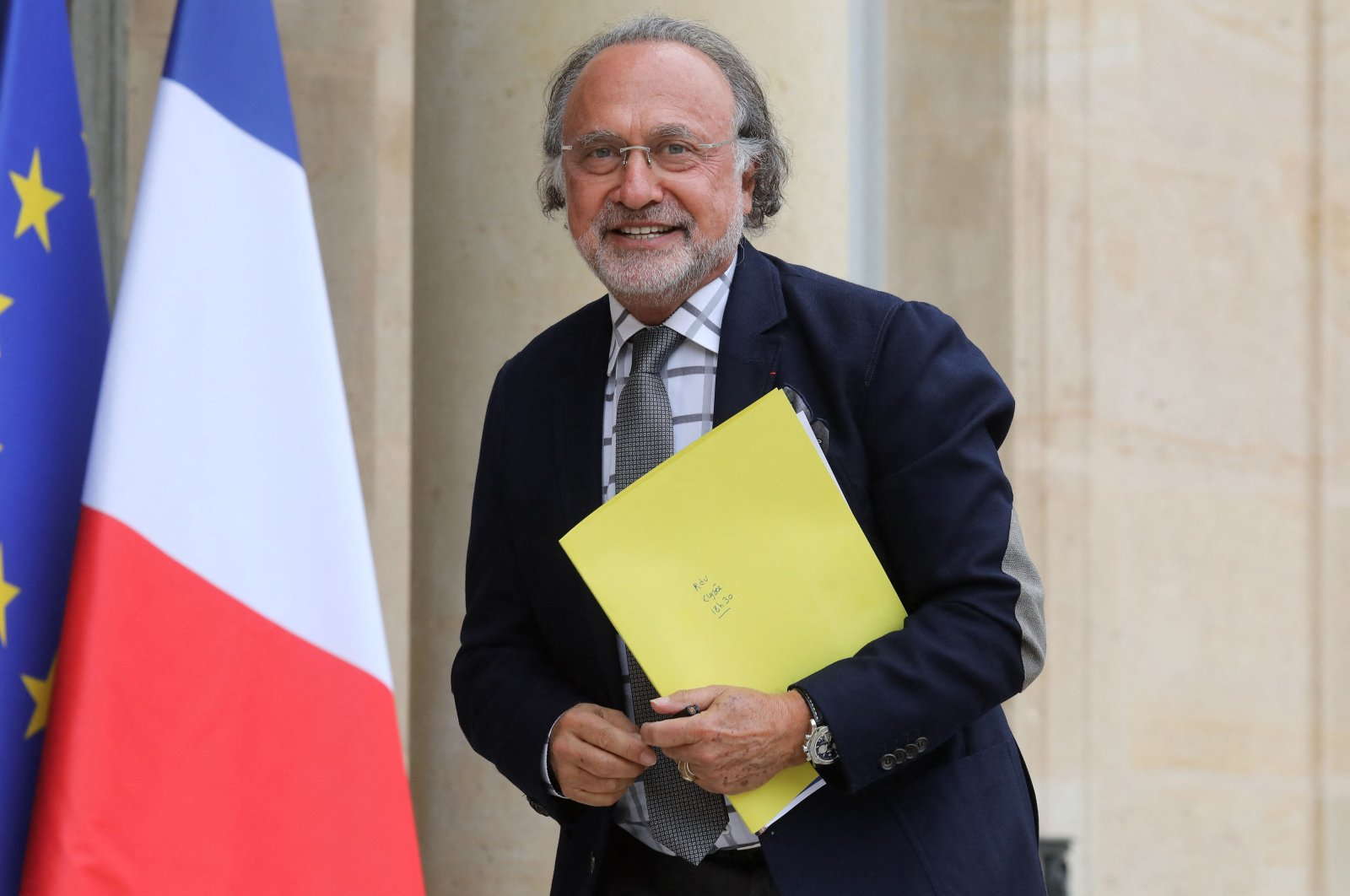 French right-wing Les Republicains (The Republicans, LR) party's Member of Parliament Olivier Dassault poses as he arrives at the Elysee Palace in Paris on June 19, 2019. (AFP File Photo)