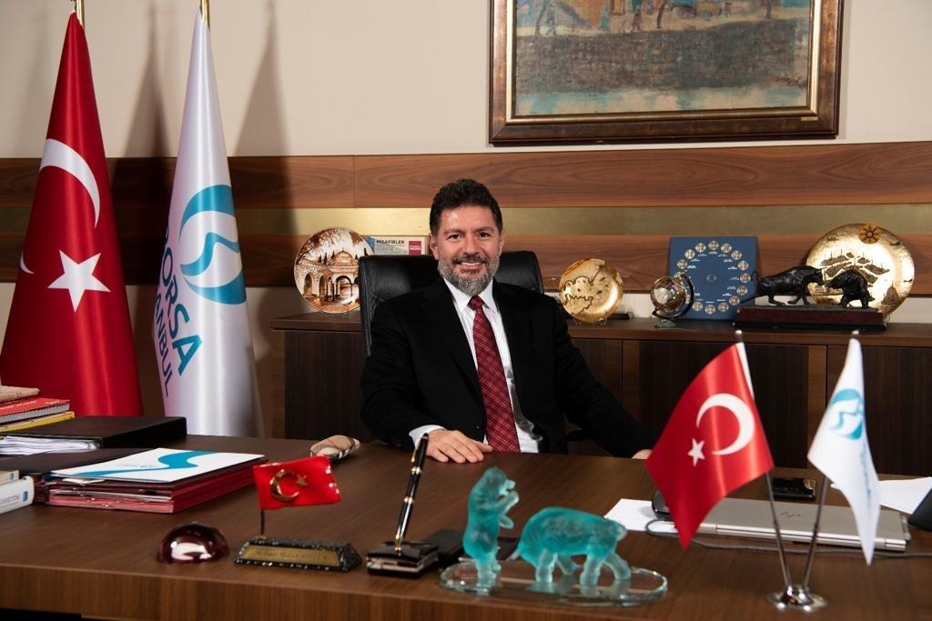 Borsa Istanbul CEO Hakan Atilla in his office at the stock exchange, Istanbul, Turkey. (AA Photo)