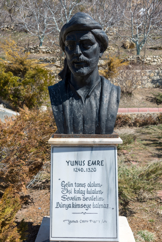 A statue of Yunus Emre in Ermenek district of Karaman province, central Turkey, March 23, 2019. (Shutterstock Photo)