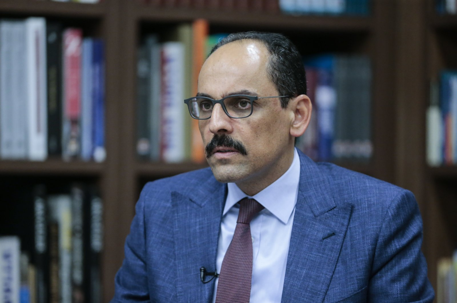 Presidential Spokesperson Ibrahim Kalın speaks during an interview with Anadolu Agency (AA), July 9, 2020. (AA Photo)