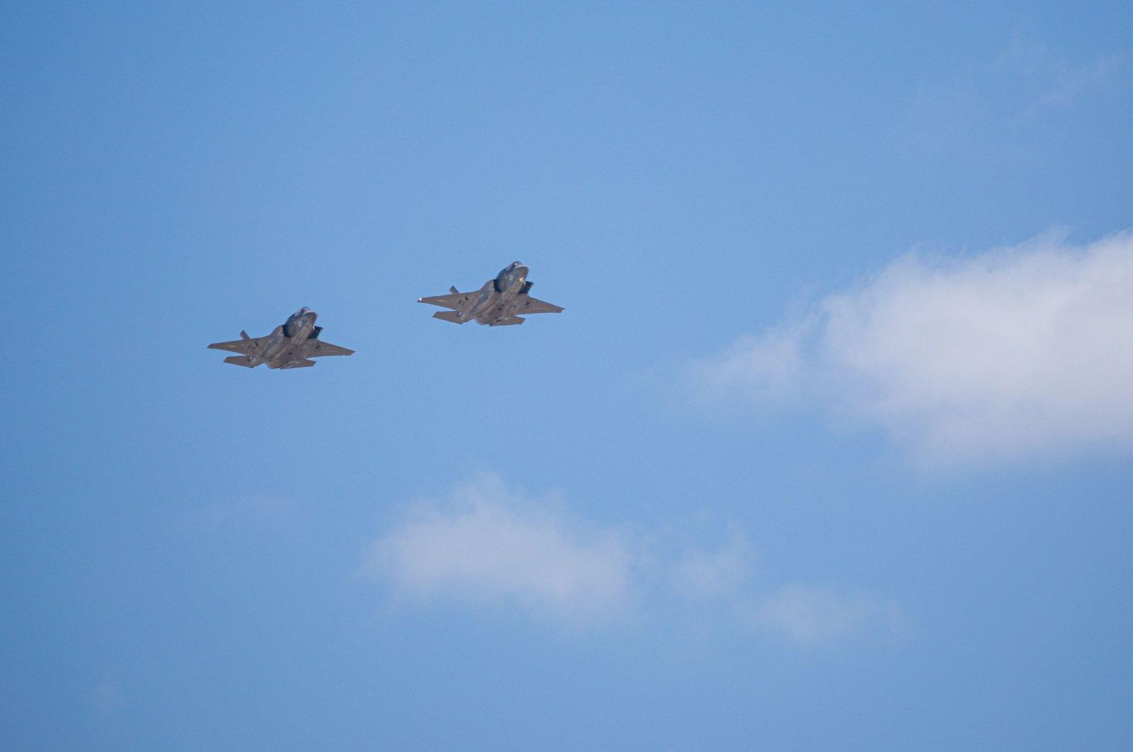 Two F35B jets seen during the Miramar 2019 Air Show, Miramar, California, U.S., Sept. 29, 2019. (Shutterstock Photo)