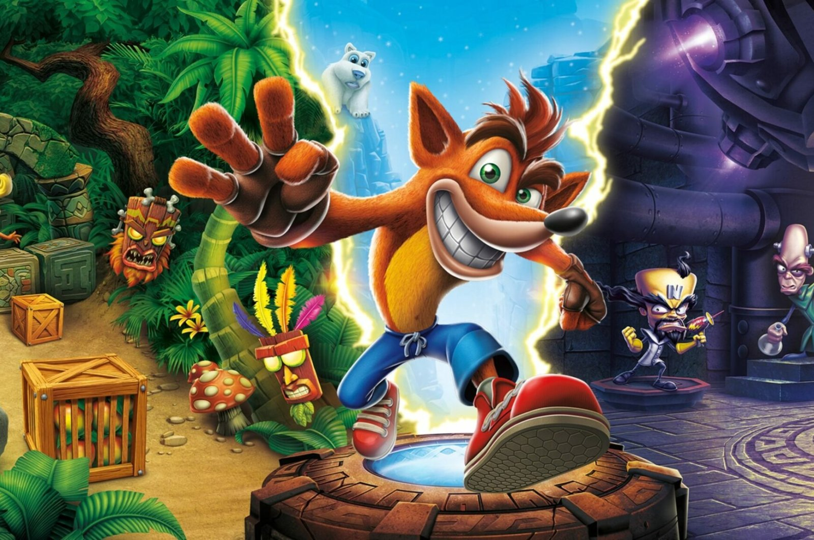 Originally developed by Naughty Dog as an exclusive for Sony's PlayStation, Crash Bandicoot is now available on PCs via Steam. (Credit: Sony)
