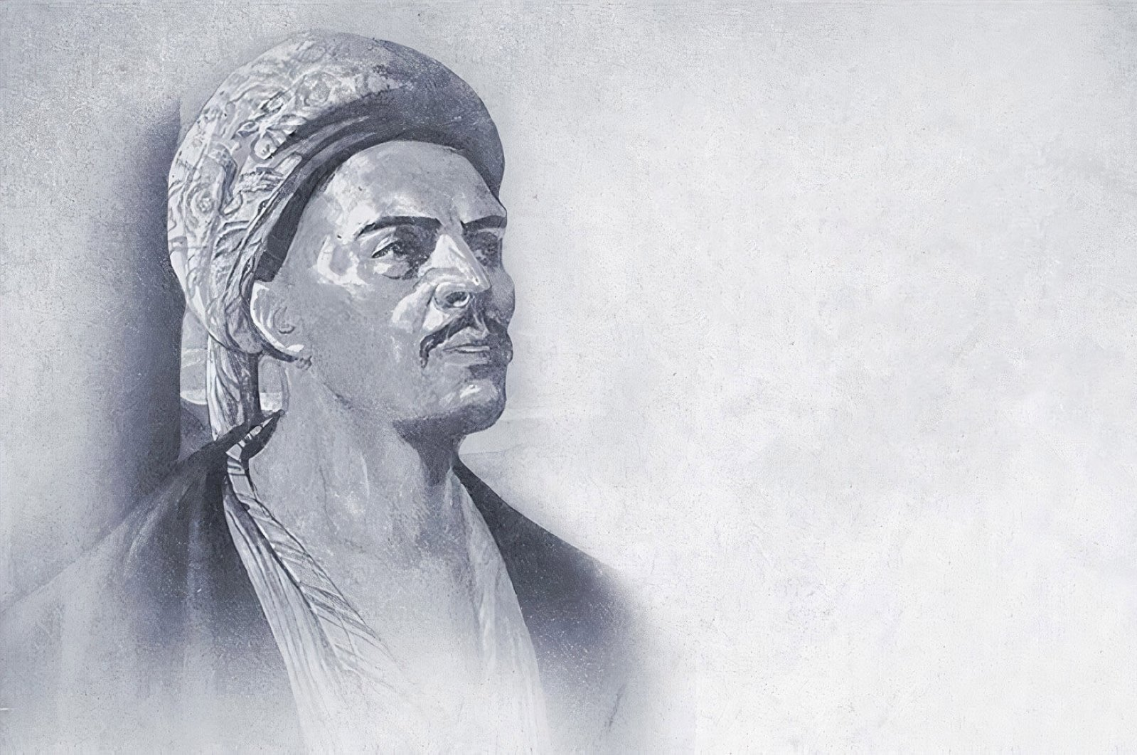 A common depiction used to portray Yunus Emre. (AA PHOTO)