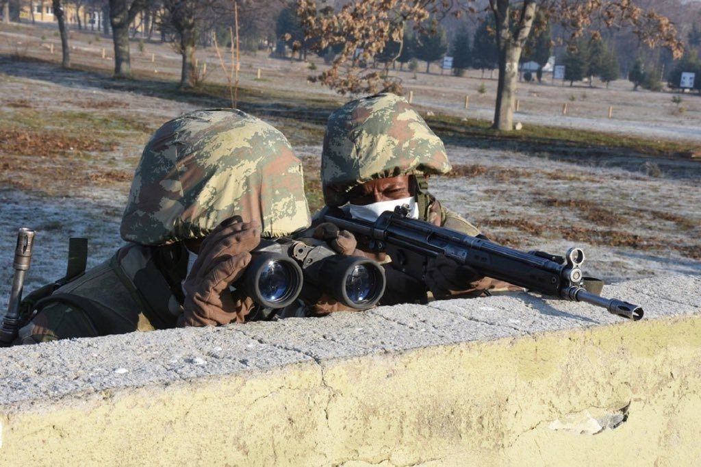 Somali soldiers receive military training in Isparta, southwestern Turkey, Jan. 5, 2021. (AA Photo)