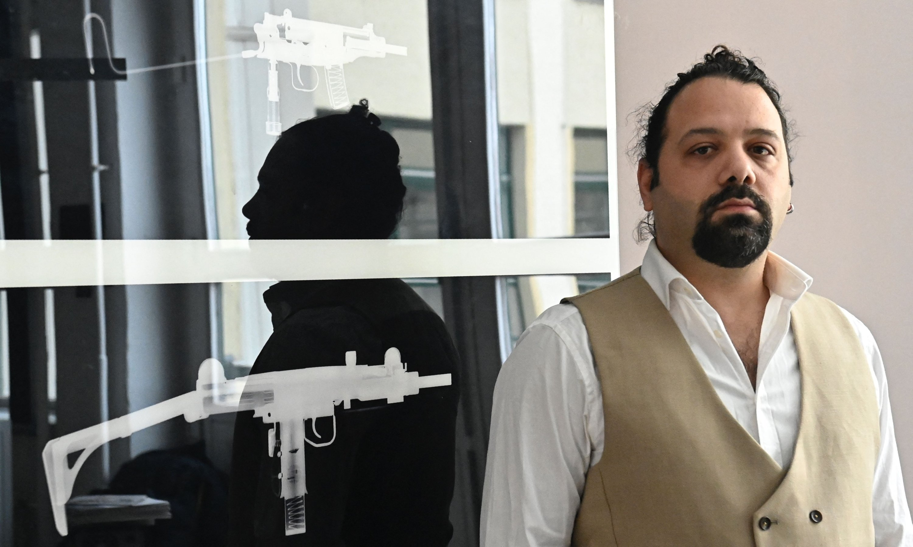 Victim of Syrian war crimes and co-plaintiff Wassim Mukdad prior to an AFP interview in Berlin, Fab. 16, 2021. (AFP)