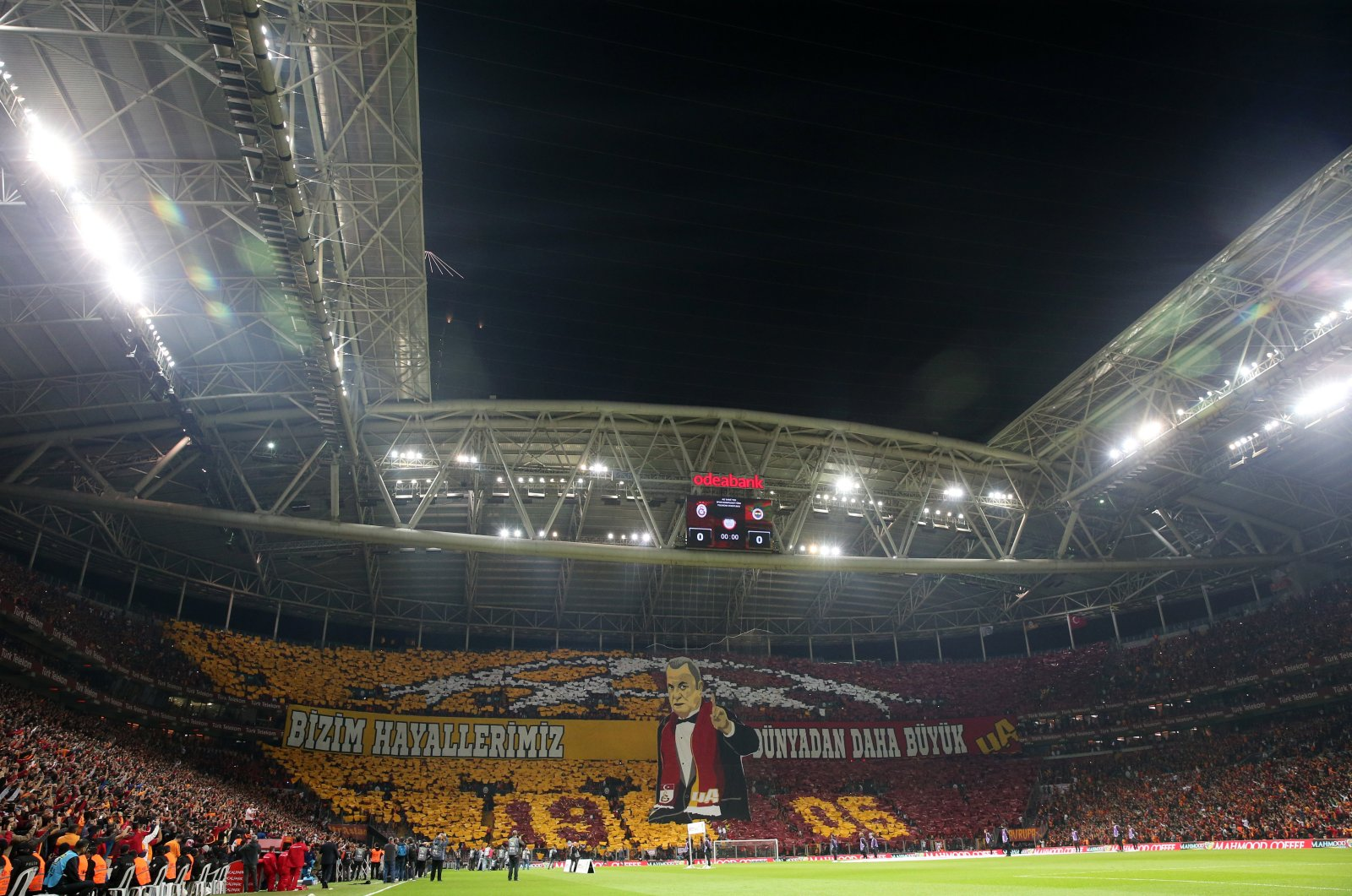 Galatasaray's Türk Telekom Stadium is seen before a derby match against Fenerbahçe in this file photo (AA Photo)