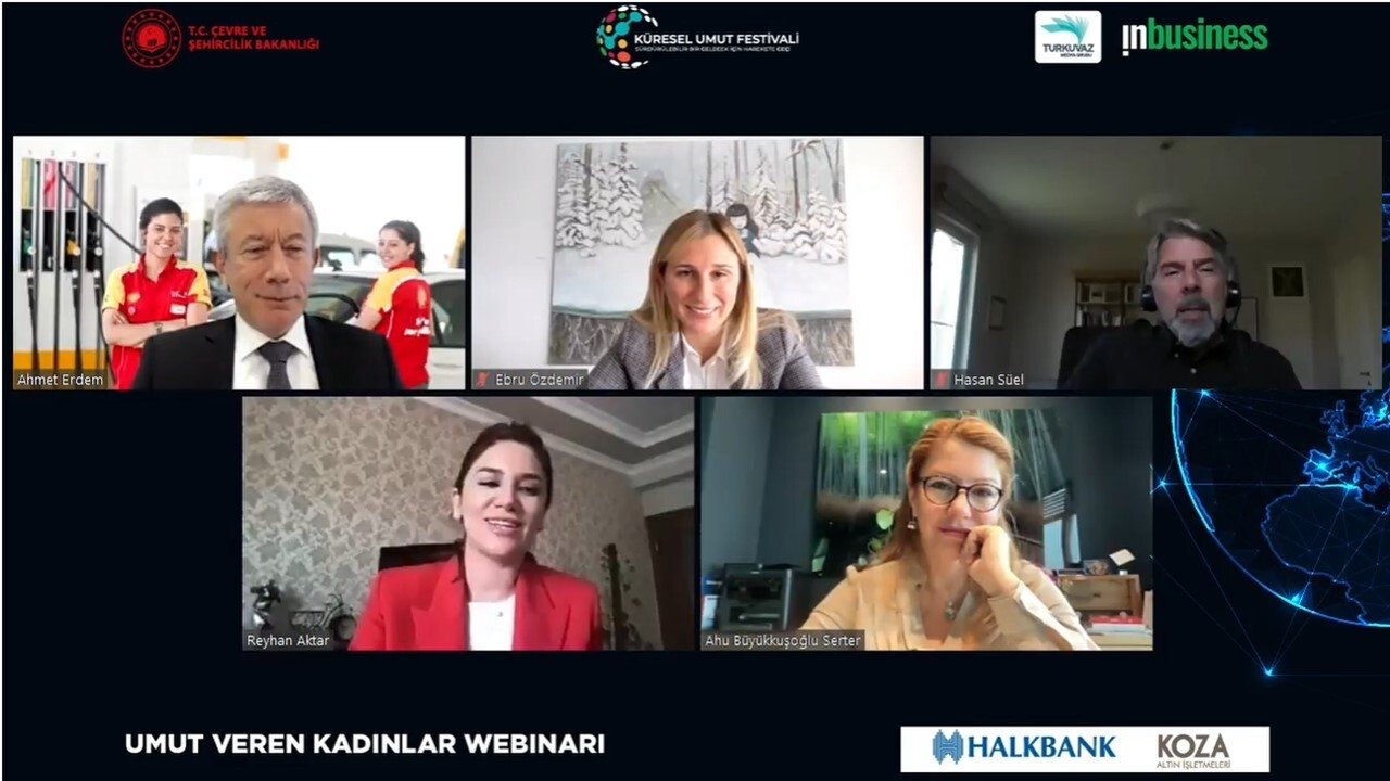 Attendants of the webinar on empowering women entrepreneurs are seen in this screenshot taken on March 10, 2021.