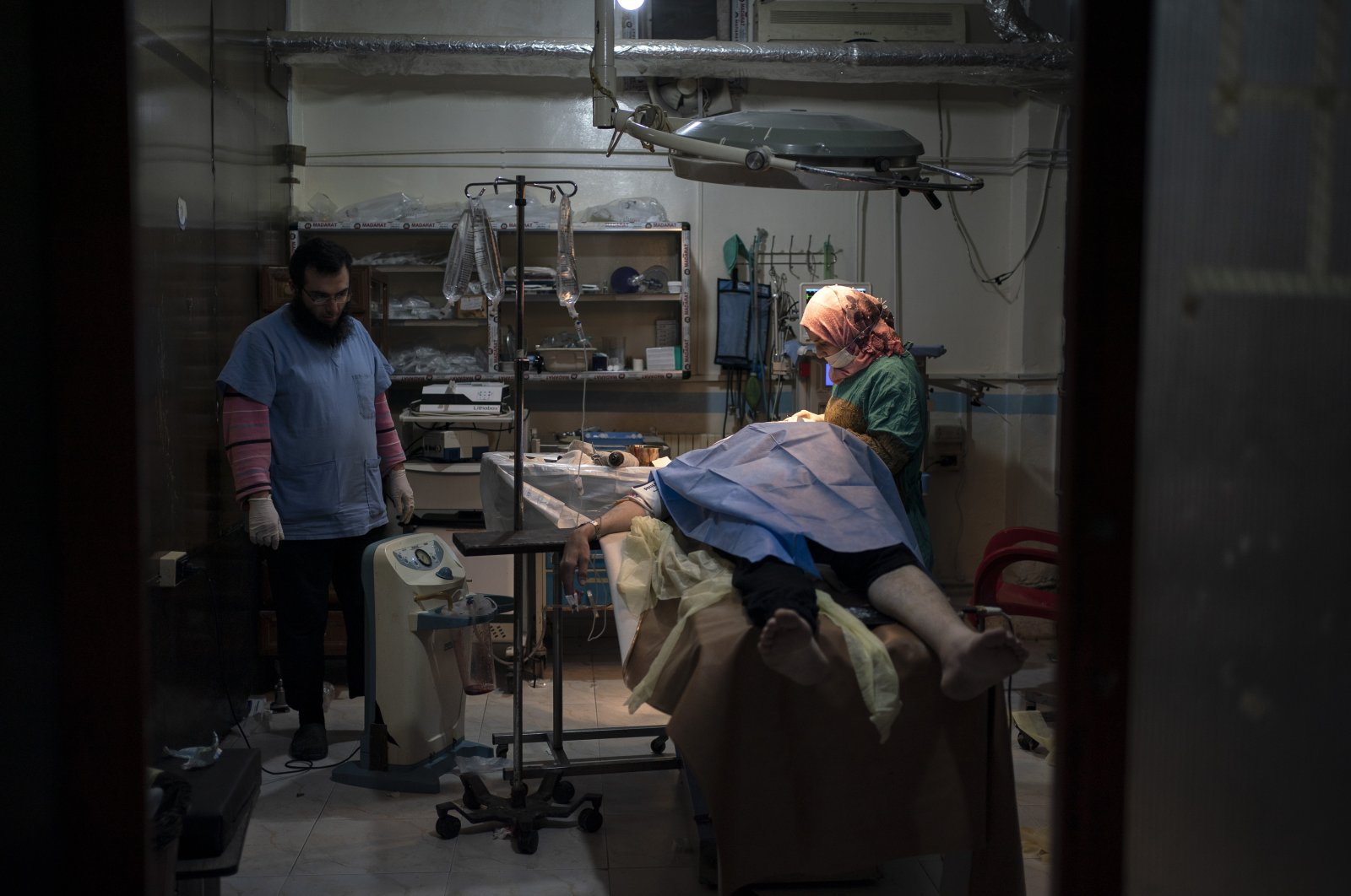 A patient is prepared for surgery at Idlib central hospital in Idlib, Syria, March 12, 2020. (AP File Photo)