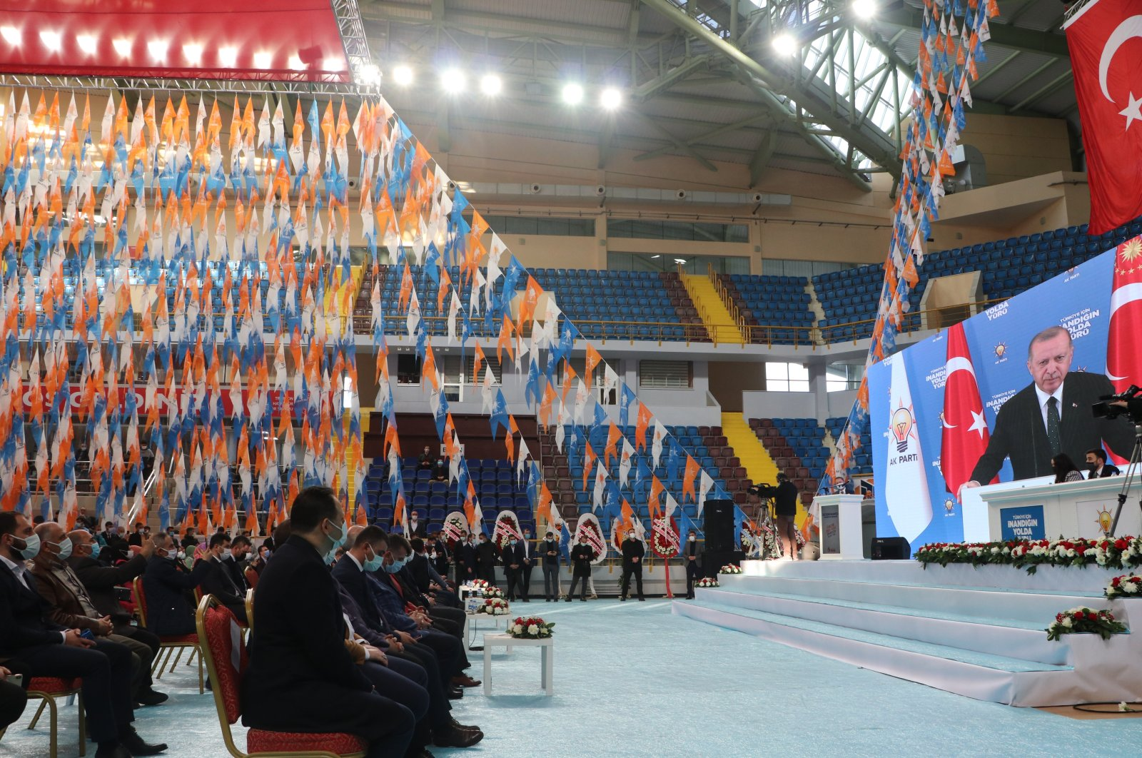 The sixth congress of the ruling Justice and Development Party's Trabzon youth branch convenes in Trabzon, Turkey, Feb.12, 2021. (AA Photo)