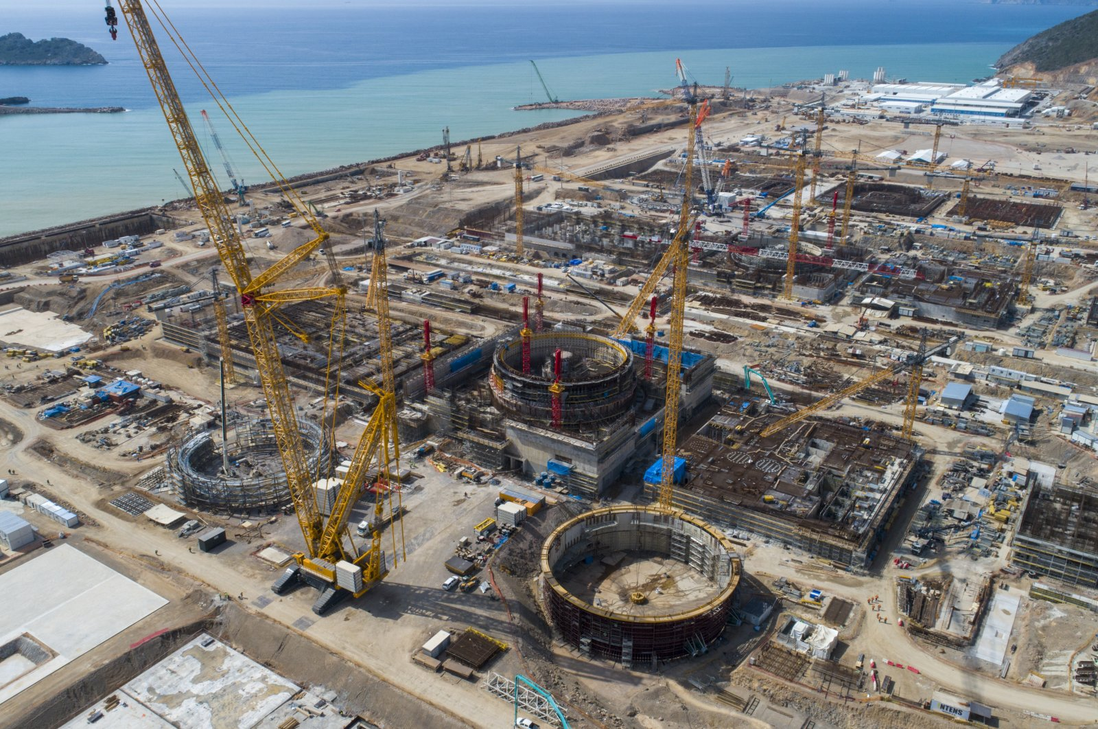 The construction site of the Akkuyu Nuclear Power Plant in southern Mersin province, Turkey, March 9, 2021. (AA Photo)