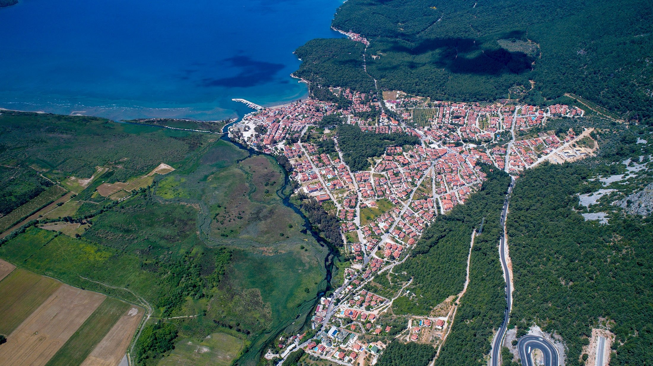 An aerial view of Akyaka in Muğla. (Shutterstock Photo)