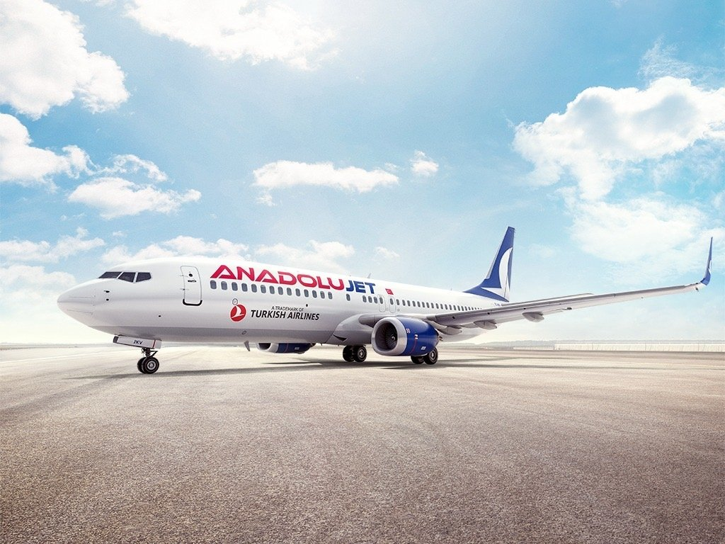 An AnadoluJet plane seen in the photo provided on March 11, 2021. (Photo by THY via AA)