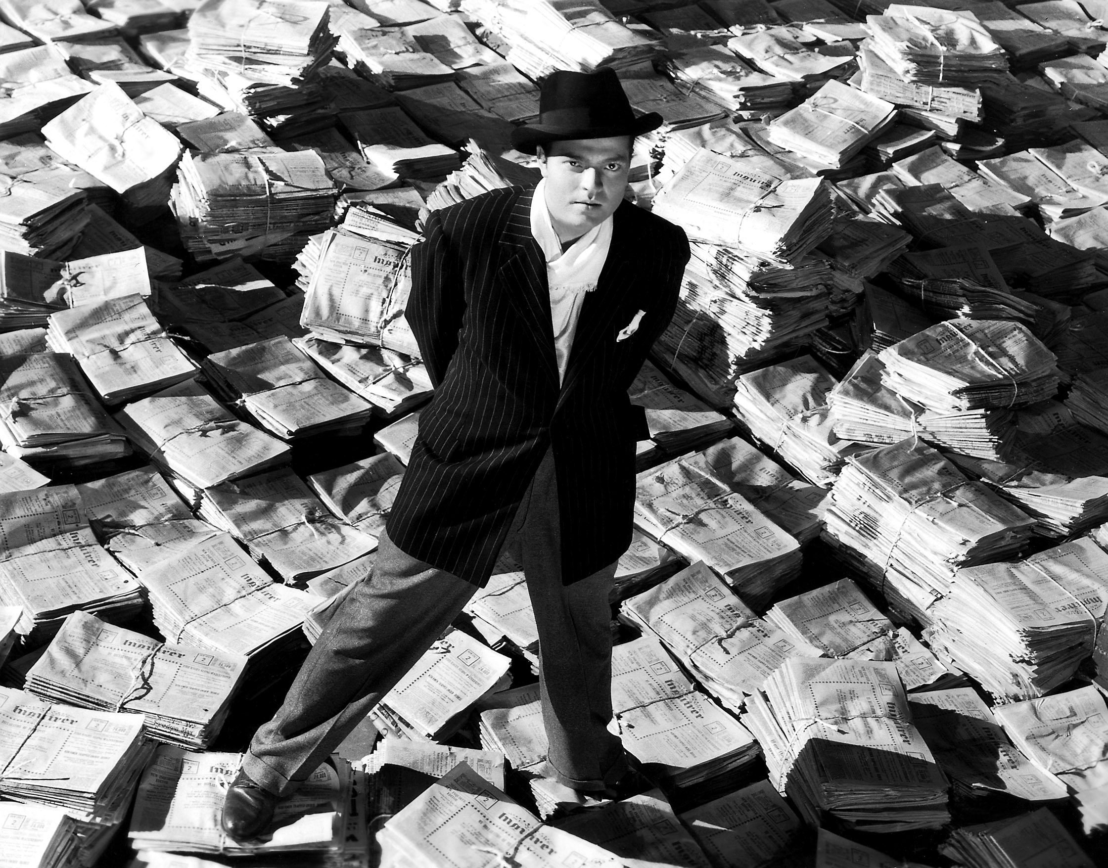 Orson Welles as Charles Foster Kane in a still shot from 'Citizen Kane.'