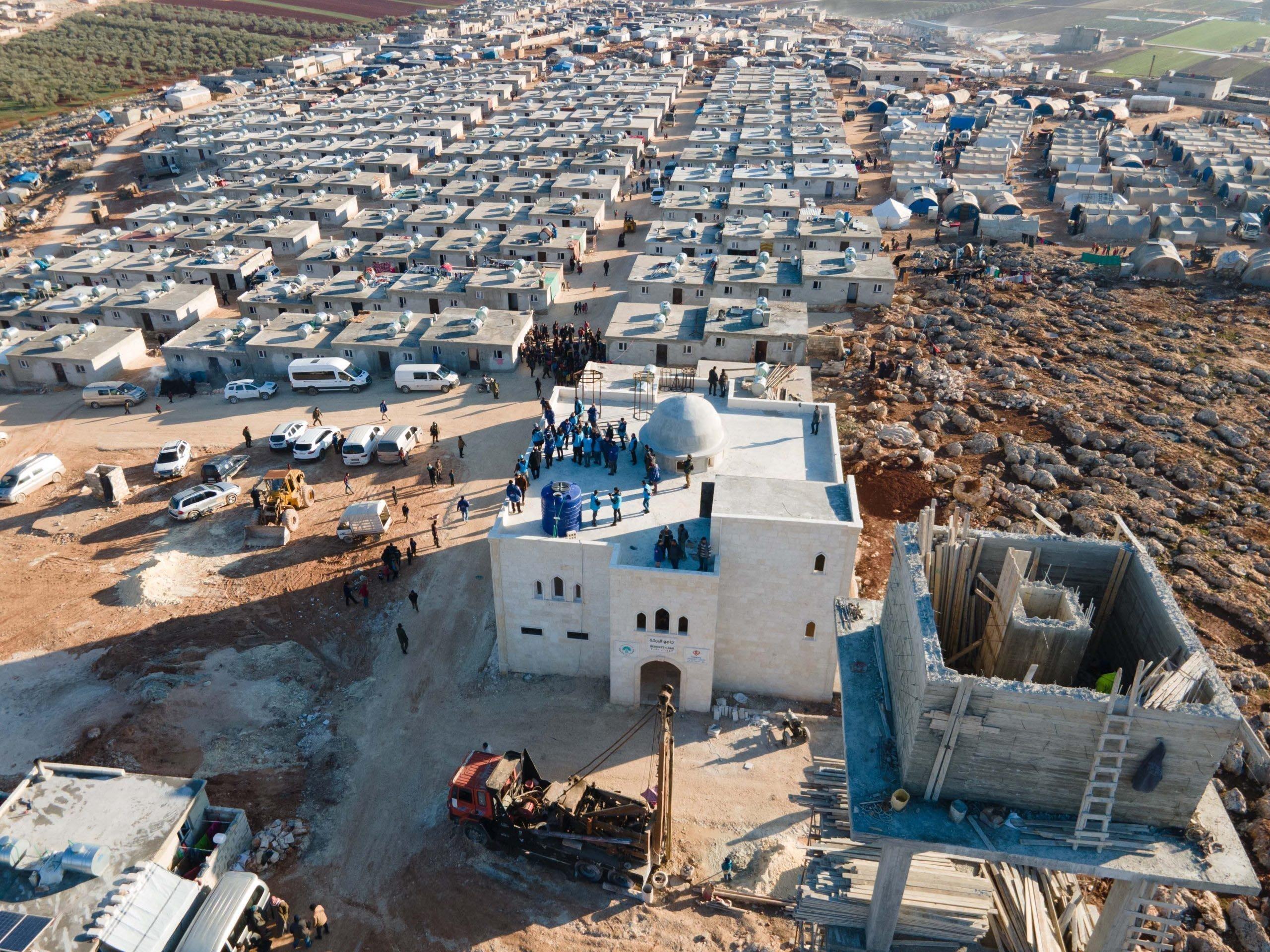 Turkey-built briquette houses, Idlib, Syria, March 11, 2021 (AA)